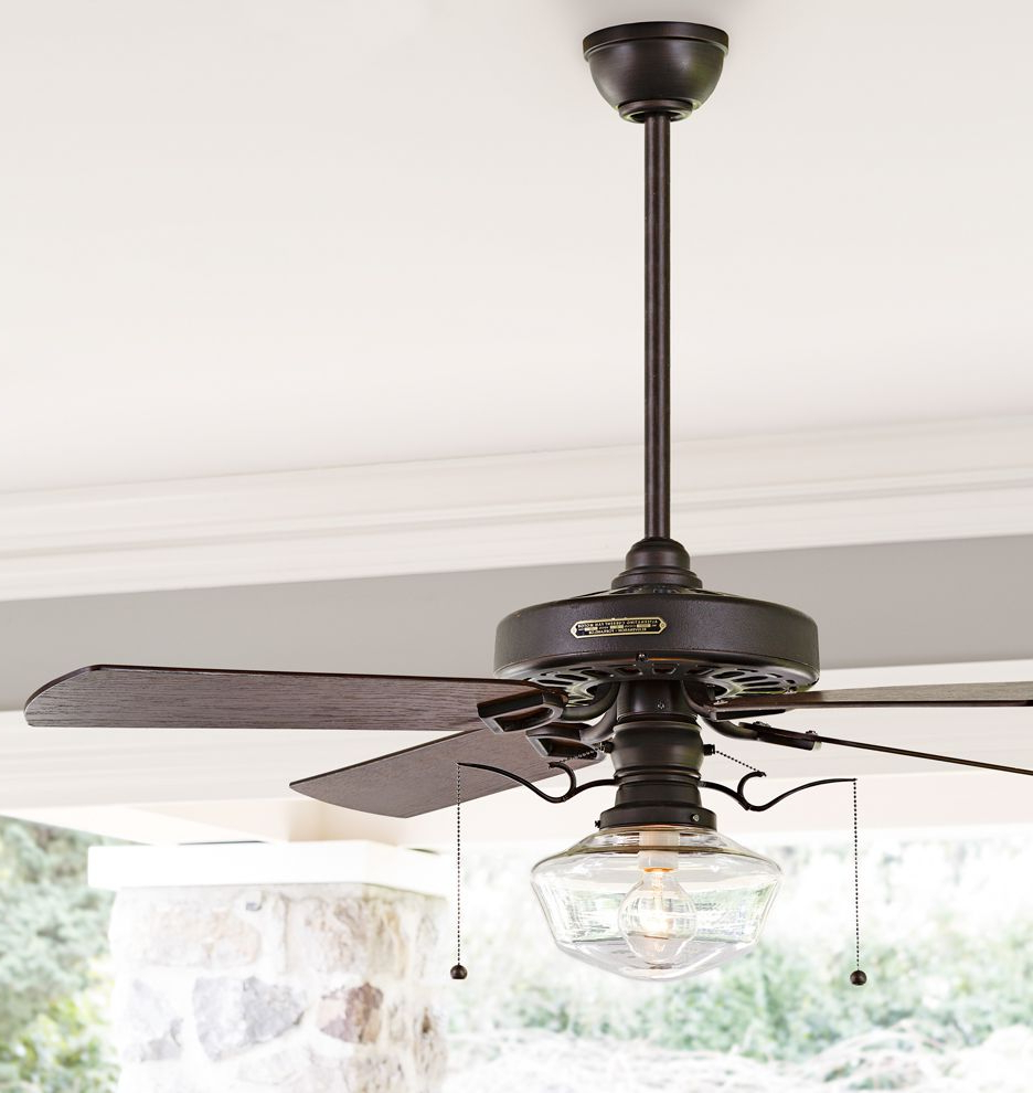 Heron Ceiling Fan With Clear Ogee Shade (View 13 of 20)