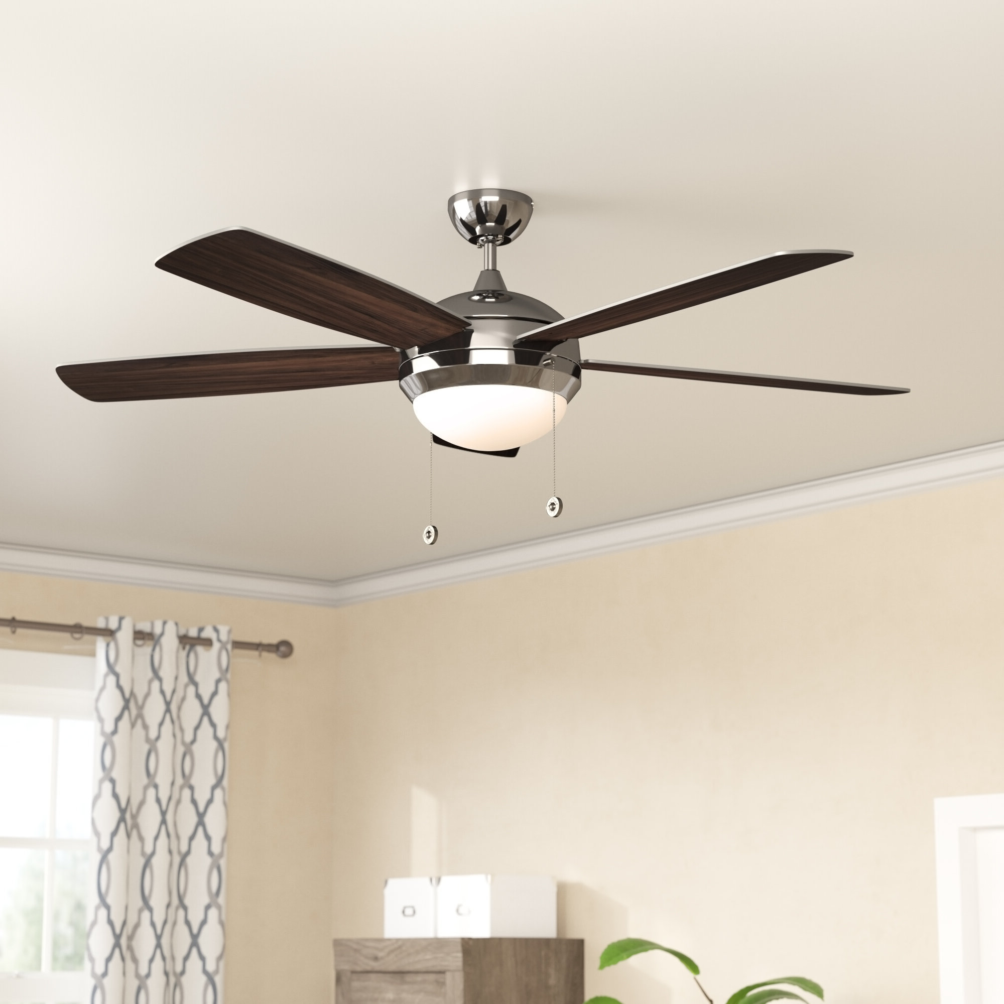 "Heskett 3 Blade Led Ceiling Fans Pertaining To Well Liked 52"" Anais Classic 5 Blade Led Ceiling Fan (View 13 of 20)"