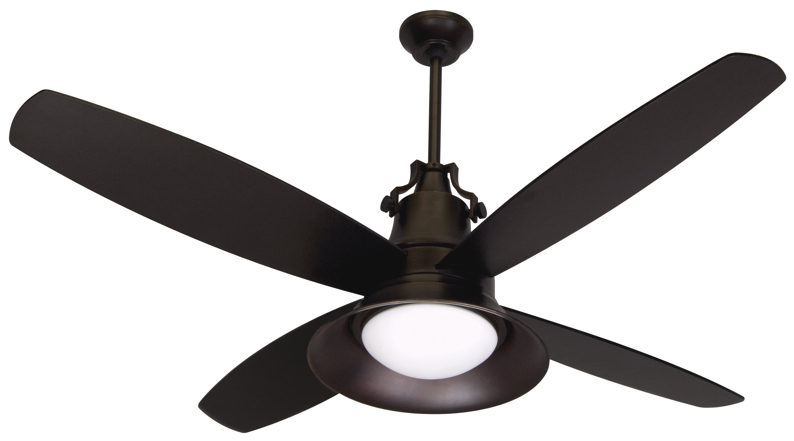 "Heskett 3 Blade Led Ceiling Fans Throughout 2020 52"" Barys 4 Blade Outdoor Led Ceiling Fan With Remote (View 18 of 20)"
