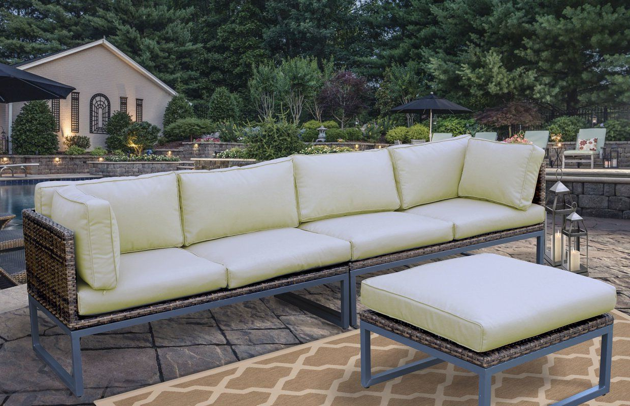 Honeycutt Patio Sofa With Cushions In (View 8 of 25)