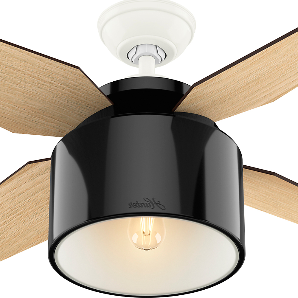 "Hunter 52"" Cranbrook Mint Ceiling Fan With Light With Handheld Remote With Regard To Well Known Cranbrook 4 Blade Ceiling Fans (View 11 of 20)"