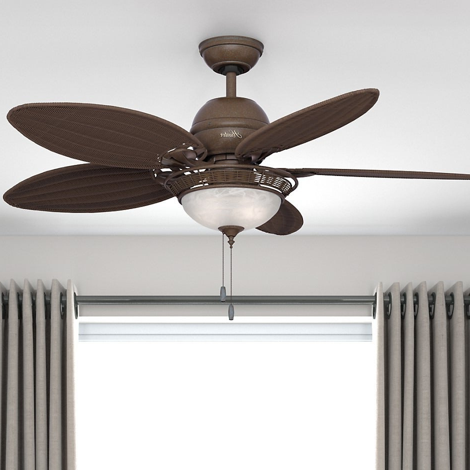 Hunter 54 Inch Caribbean Breeze Fan Within 2019 Caribbean Breeze 5 Blade Ceiling Fans (View 9 of 20)