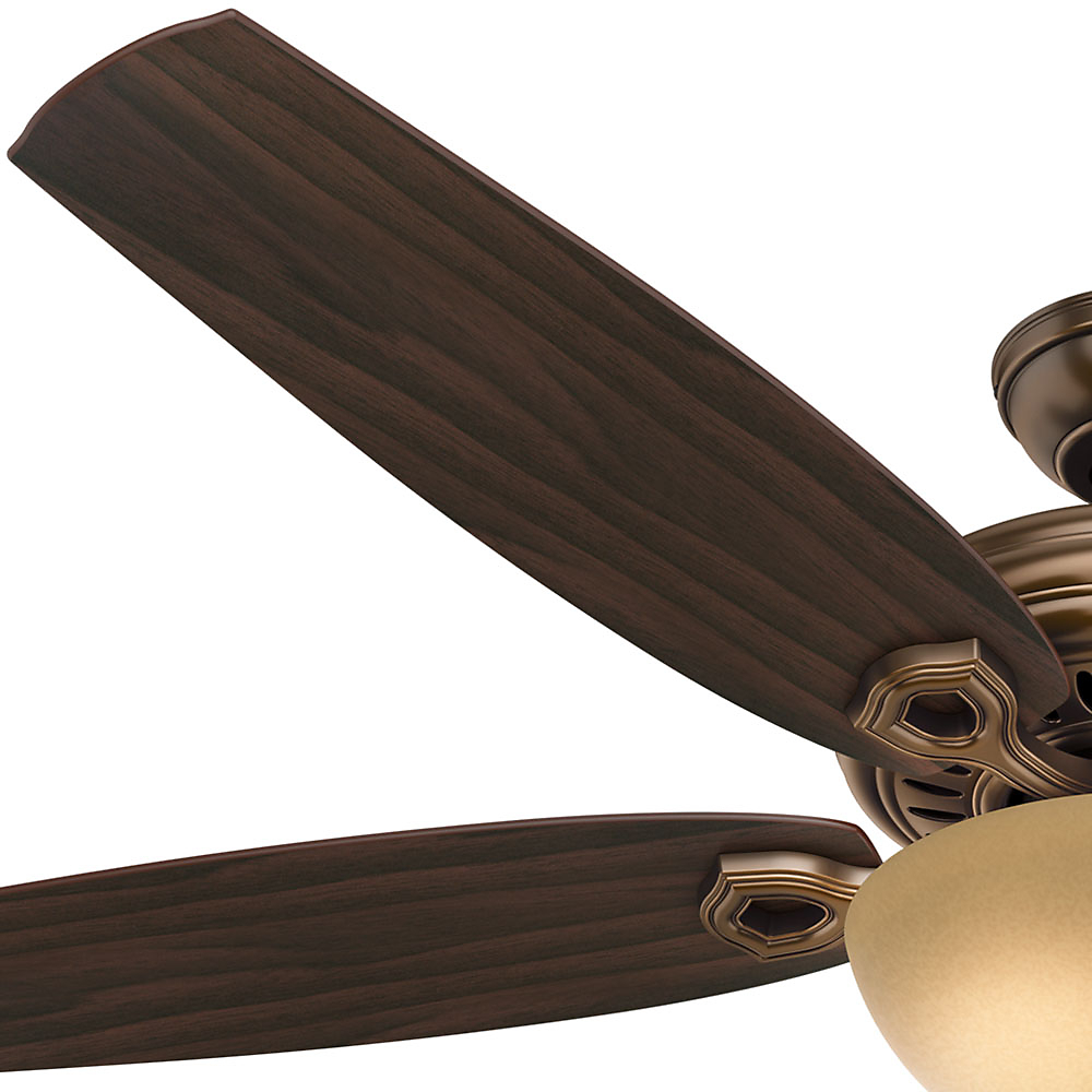 "Hunter 60"" Valerian Bronze Patina Ceiling Fan With Light For Preferred Valerian 5 Blade Ceiling Fans (Gallery 8 of 20)"