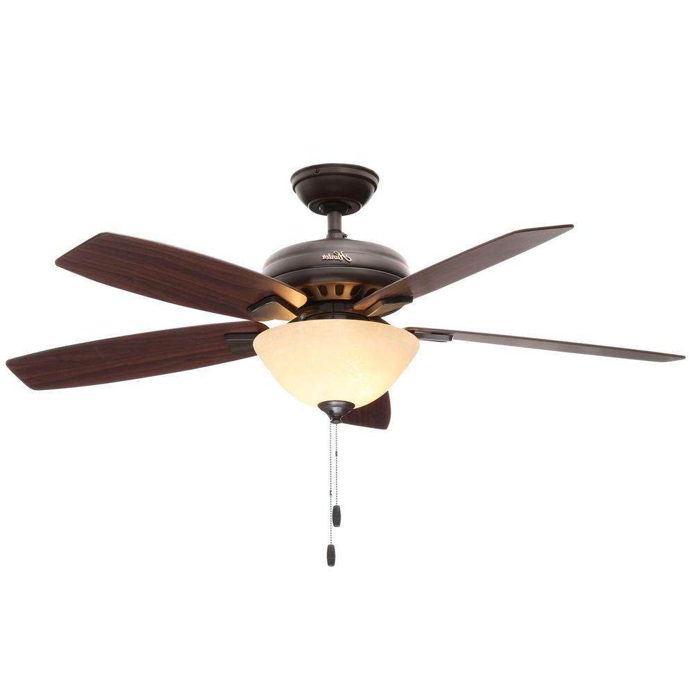 Hunter Banyan 52 In. Indoor New Bronze Ceiling Fan With Light Within Most Popular Banyan 5 Blade Ceiling Fans (Gallery 4 of 20)