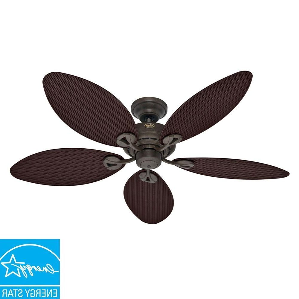 Hunter Bayview 54 In. Indoor/outdoor Provencal Gold Ceiling With Current Bayview 5 Blade Ceiling Fans (Gallery 8 of 20)