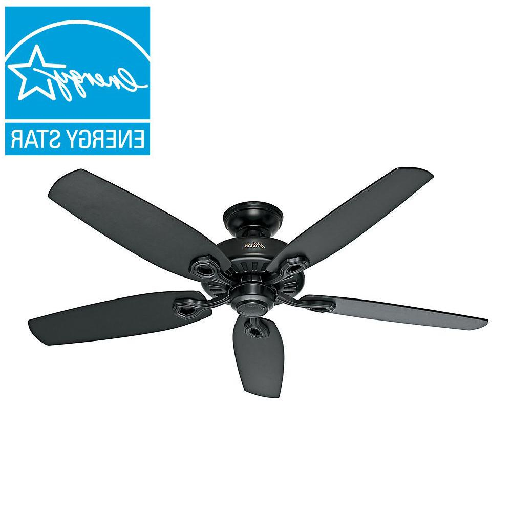 Hunter Builder Elite 52 In. Indoor Matte Black Ceiling Fan Inside Recent Builder Elite 5 Blade Ceiling Fans (Gallery 15 of 20)