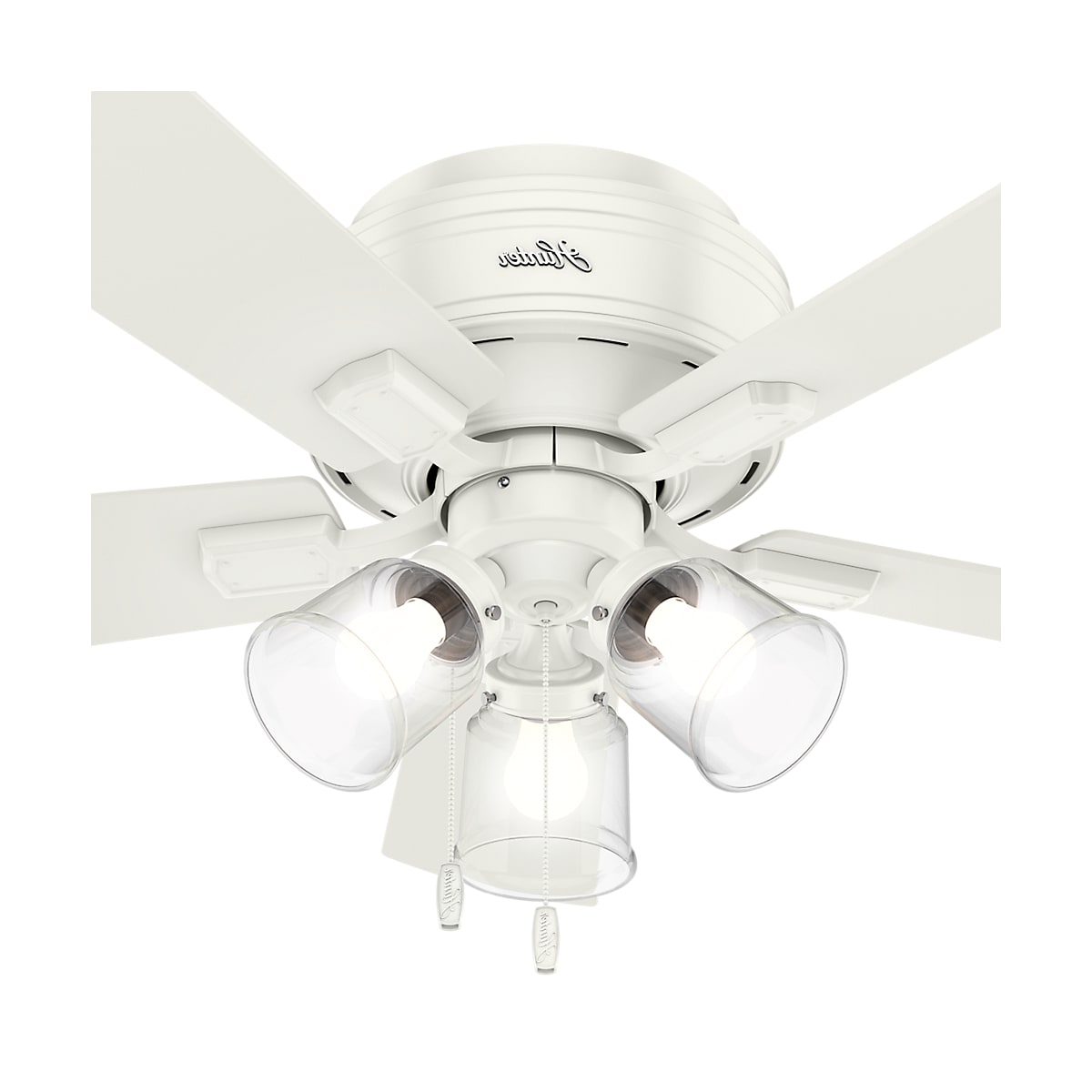 Hunter Crestfield 42 Led Low Profile For Favorite Crestfield 5 Blade Ceiling Fans (View 13 of 20)