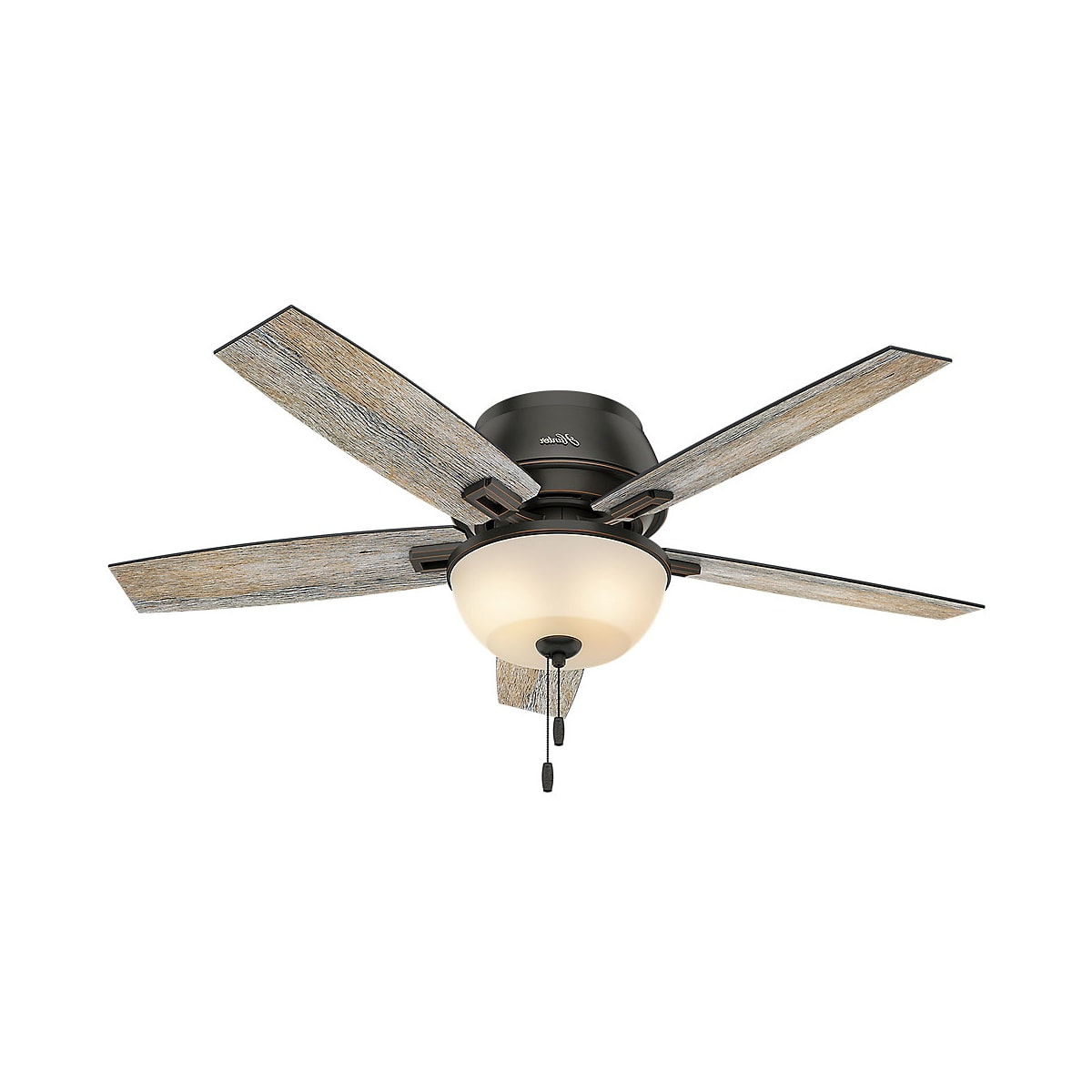 Hunter Donegan 52 Bowl Low Profile Inside Most Current Builder Low Profile 5 Blade Ceiling Fans (View 11 of 20)