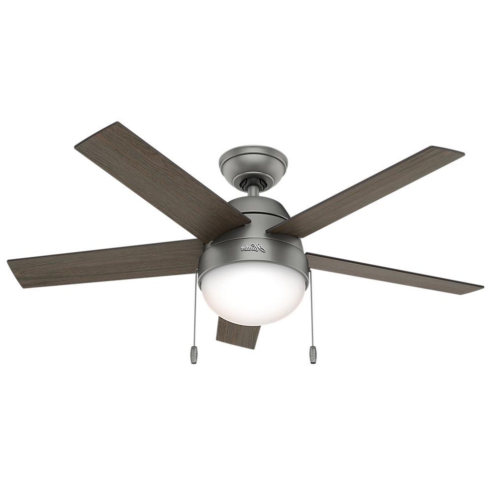 """Hunter Fan 46"""" Anslee 5 Blade Ceiling Fan Regarding 2019 Anslee 5 Blade Ceiling Fans (View 10 of 20)"""