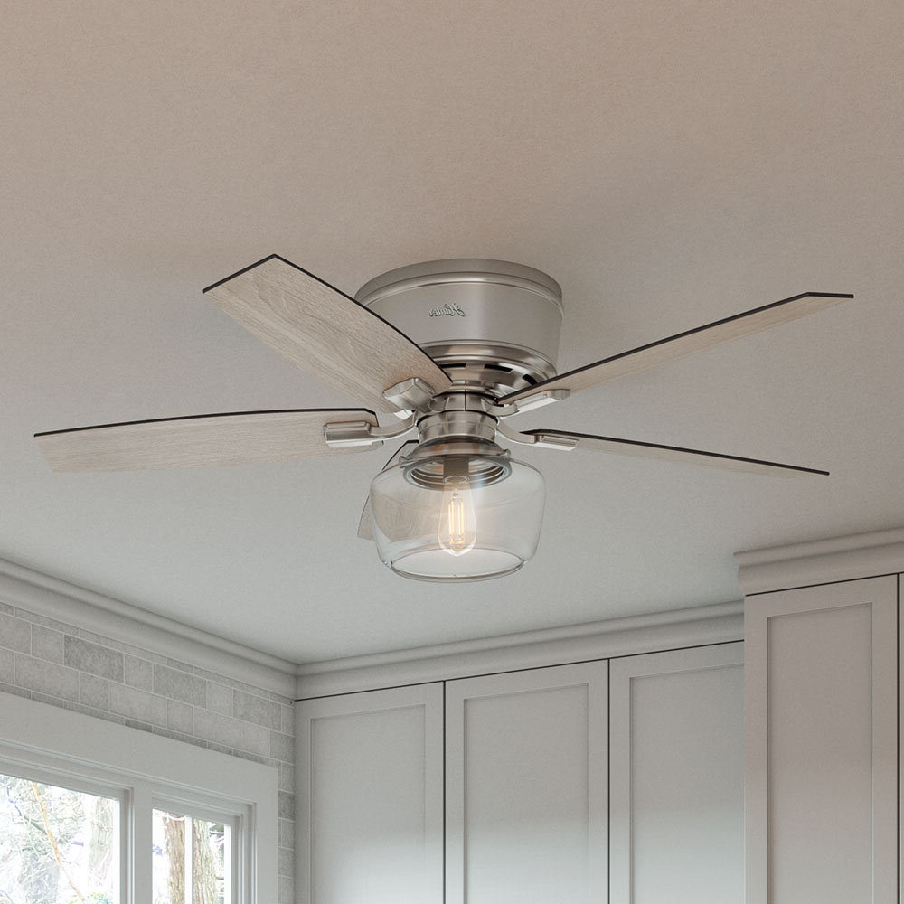 "Hunter Fan 52"" Bennett 5 Blade Ceiling Fan With Remote Inside Well Liked Wilburton 5 Blade Ceiling Fans With Remote (View 9 of 20)"