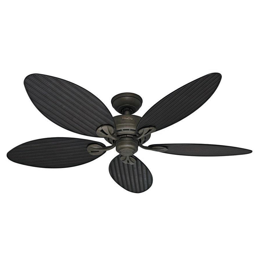 Hunter Fan Bayview 54 Inch 5 Palm Leaf Blades Ceiling Fan With Newest Bayview 5 Blade Ceiling Fans (View 14 of 20)