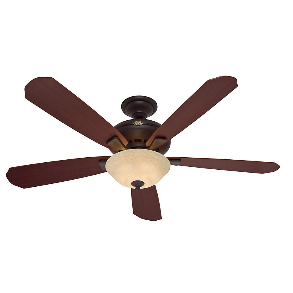 Hunter Grant Park 60 In. Indoor New Bronze Ceiling Fan Throughout Fashionable Mccarthy 5 Blade Ceiling Fans (Gallery 15 of 20)