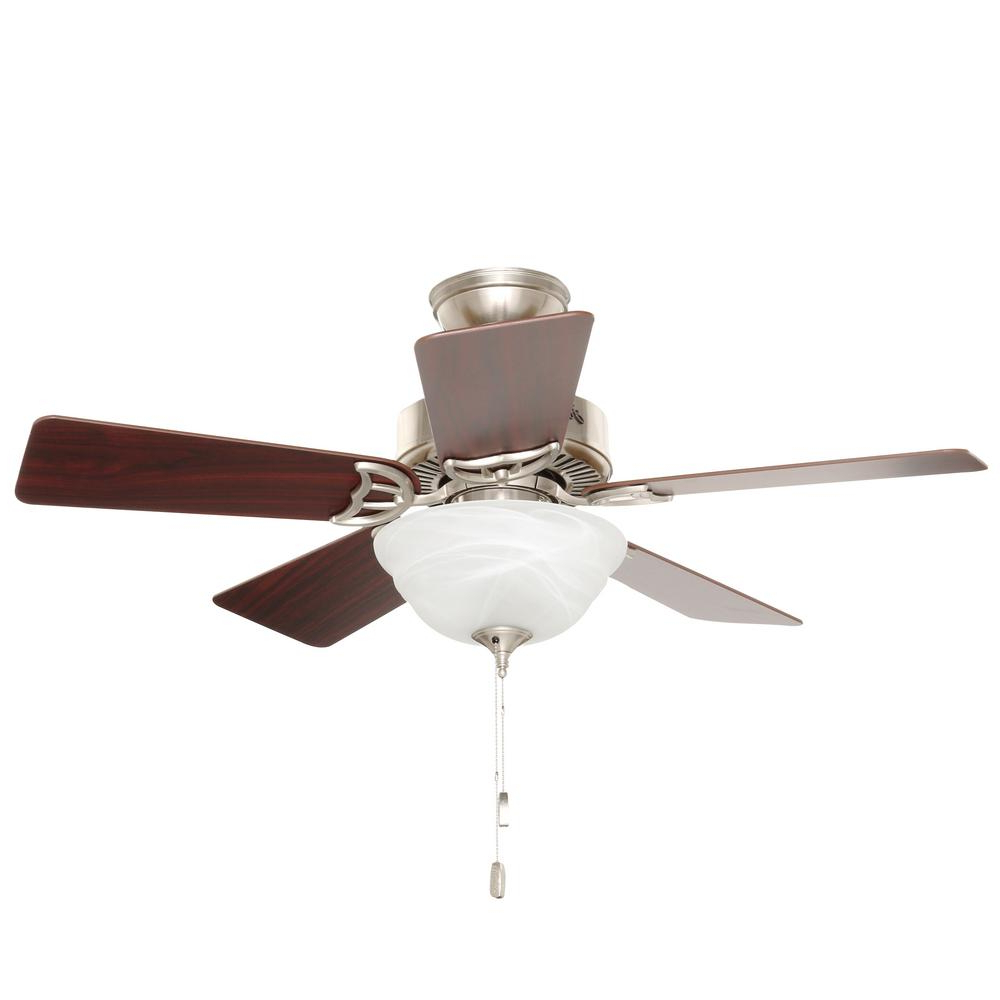 Hunter Kensington 42 In. Indoor Brushed Nickel Ceiling Fan With Light Kit Pertaining To Popular The Kensington 5 Blade Ceiling Fans (Gallery 4 of 20)
