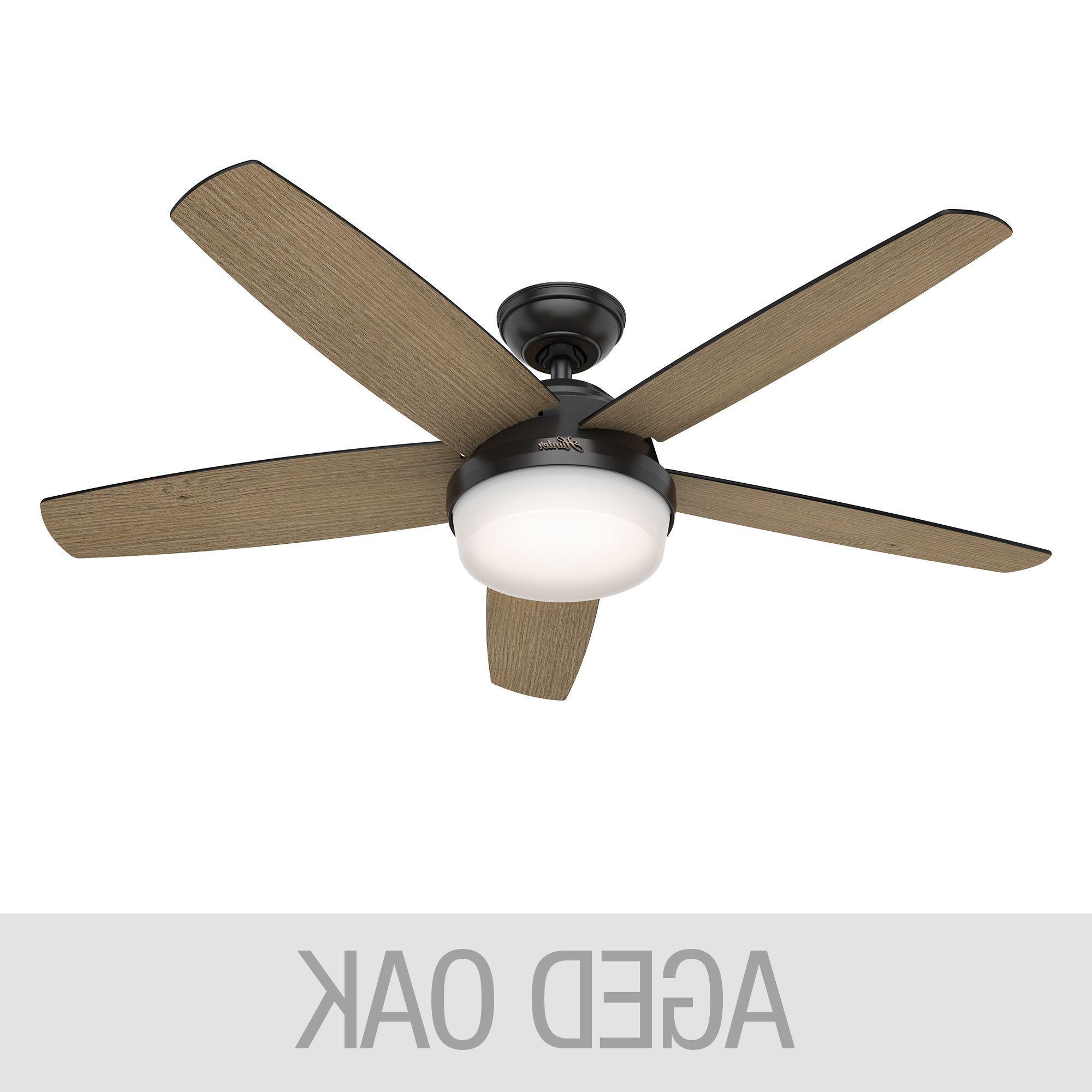 Hunter Led 52 Intended For Trendy Sentinel 3 Blade Led Ceiling Fans With Remote (View 6 of 20)