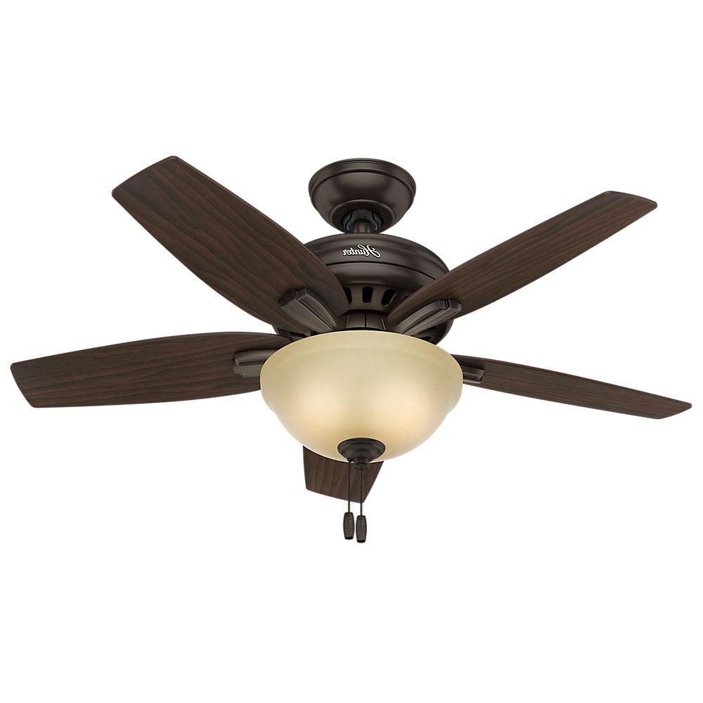 Hunter Newsome 42 In. Indoor Premier Bronze Ceiling Fan With Light Kit Regarding Most Current The Kensington 5 Blade Ceiling Fans (Gallery 8 of 20)