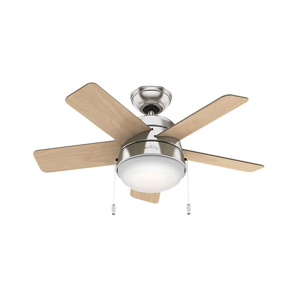 Hunter Tarrant 36 In. Led Indoor Brushed Nickel Ceiling Fan With Regard To 2019 Loki 4 Blade Led Ceiling Fans (Gallery 9 of 20)