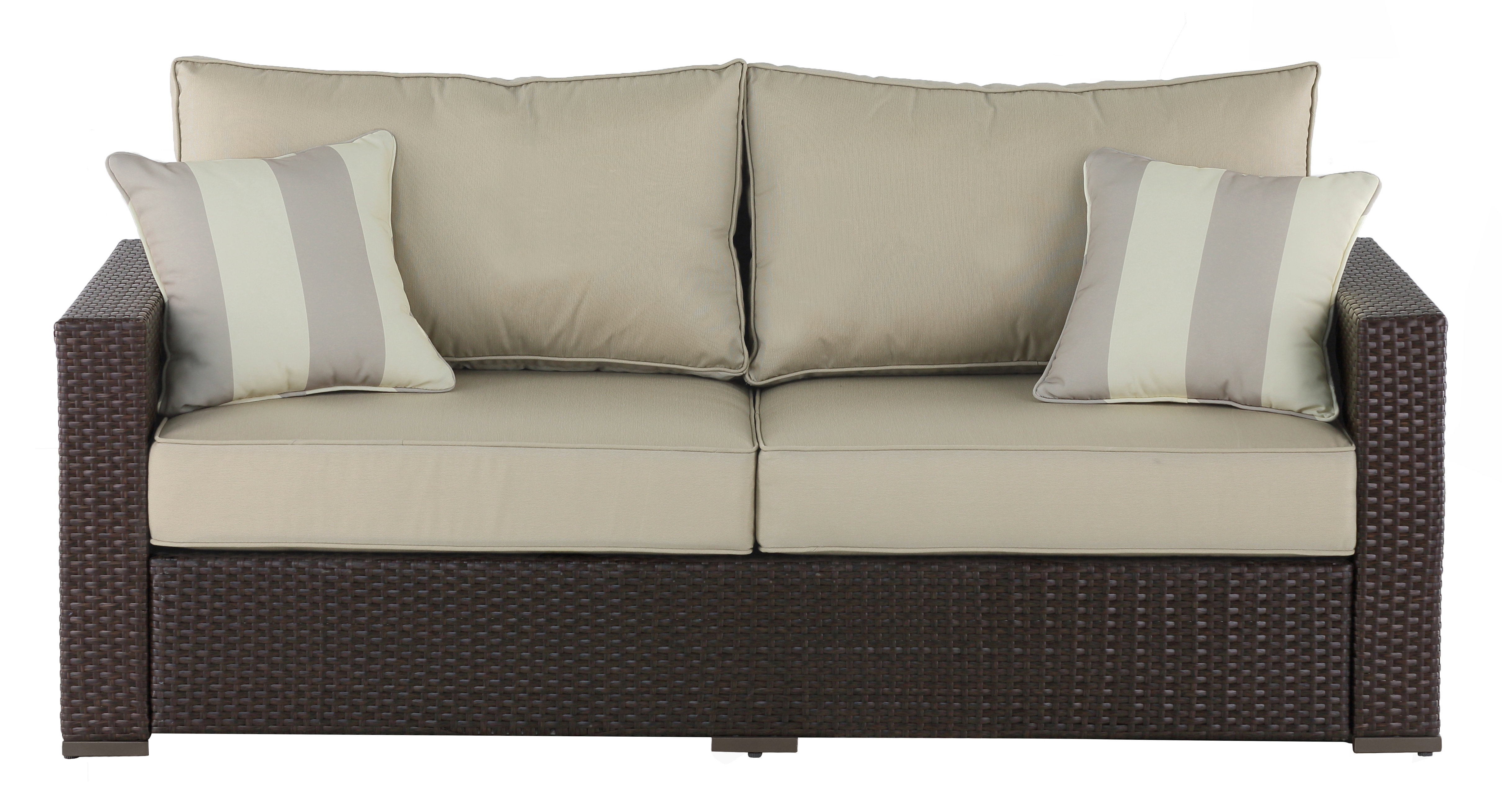 Hursey Patio Sectionals Intended For Well Liked Laguna Outdoor Sofa With Cushions (View 14 of 20)
