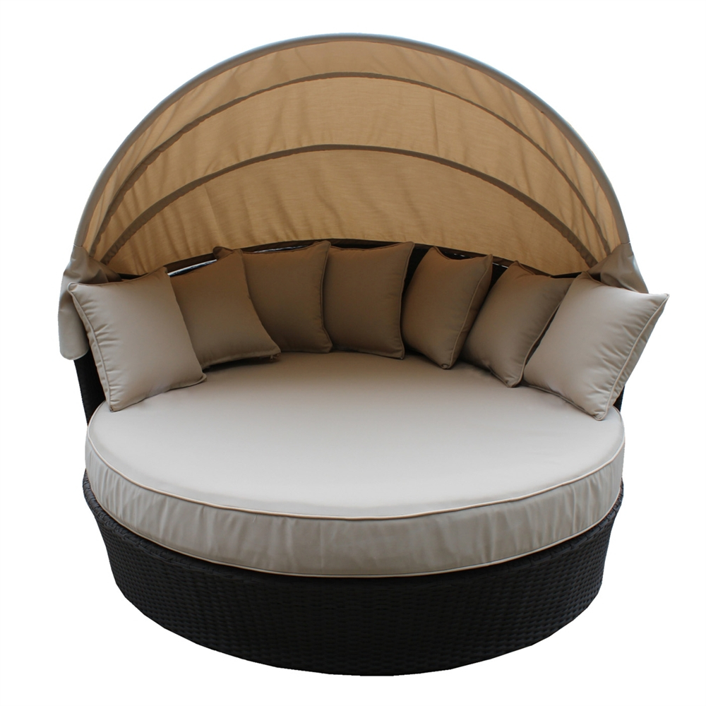 Ivesensemble Throughout Olu Bamboo Large Round Patio Daybeds With Cushions (View 6 of 20)