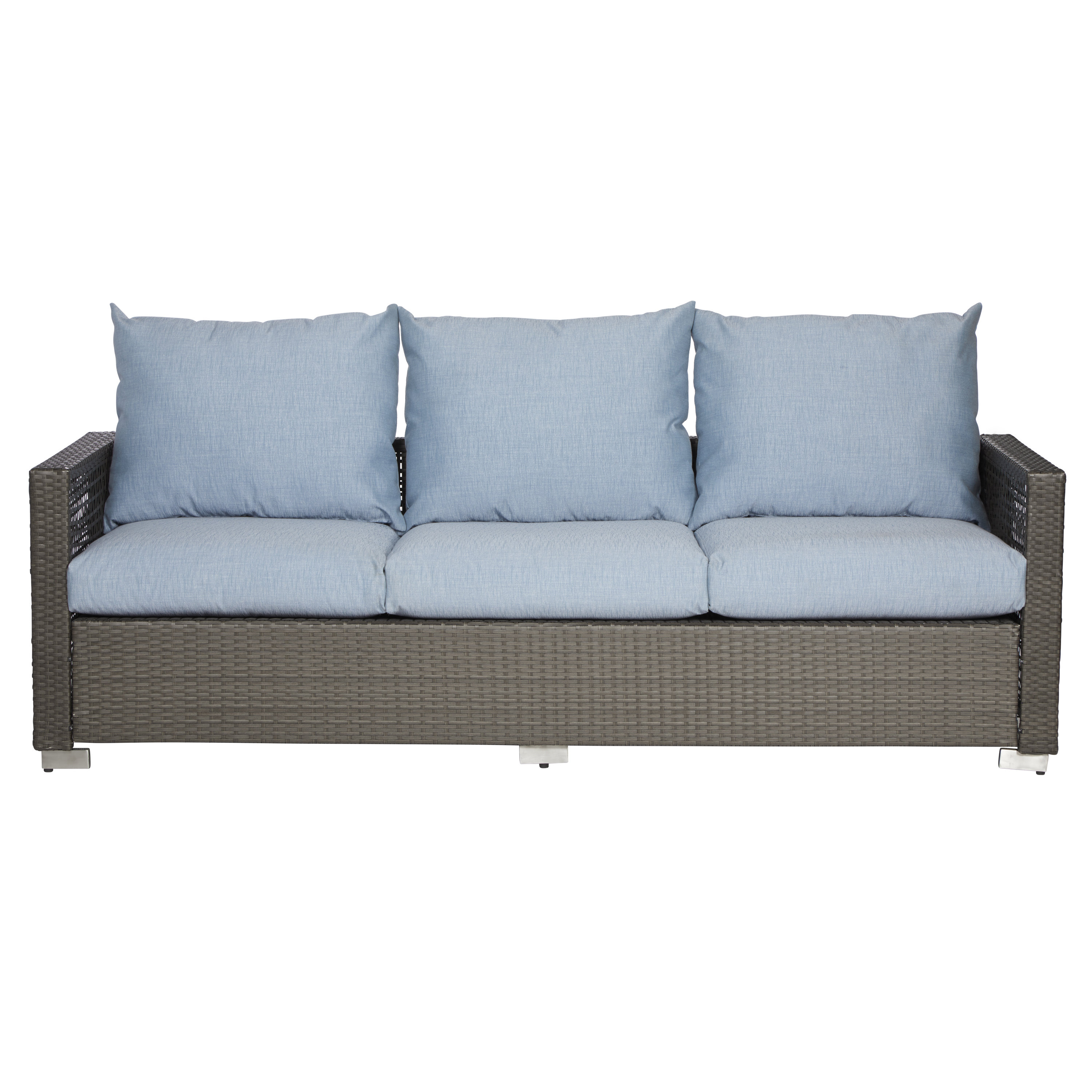 Ivy Bronx Mcmanis Patio Sofa With Cushions Intended For Well Liked Loggins Patio Sofas With Cushions (View 6 of 20)