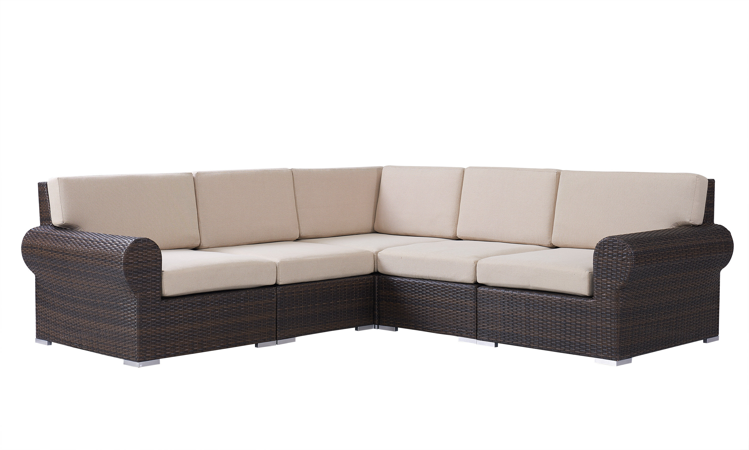 Jamarion 4 Piece Sectionals With Sunbrella Cushions With Recent Brookhaven Patio Sectional With Cushions (View 6 of 20)