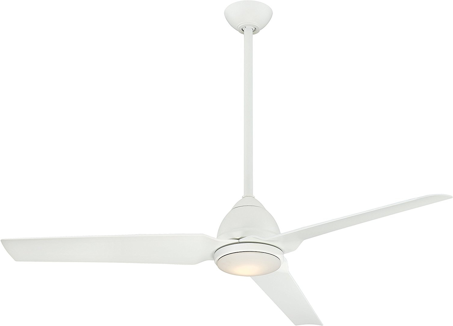 "Java 3 Blade Outdoor Ceiling Fans Intended For Most Popular Details About Minka Aire F753L Whf Java Led 54"" 3 Blade Ceiling Fan In Flat  White Finish (View 10 of 20)"