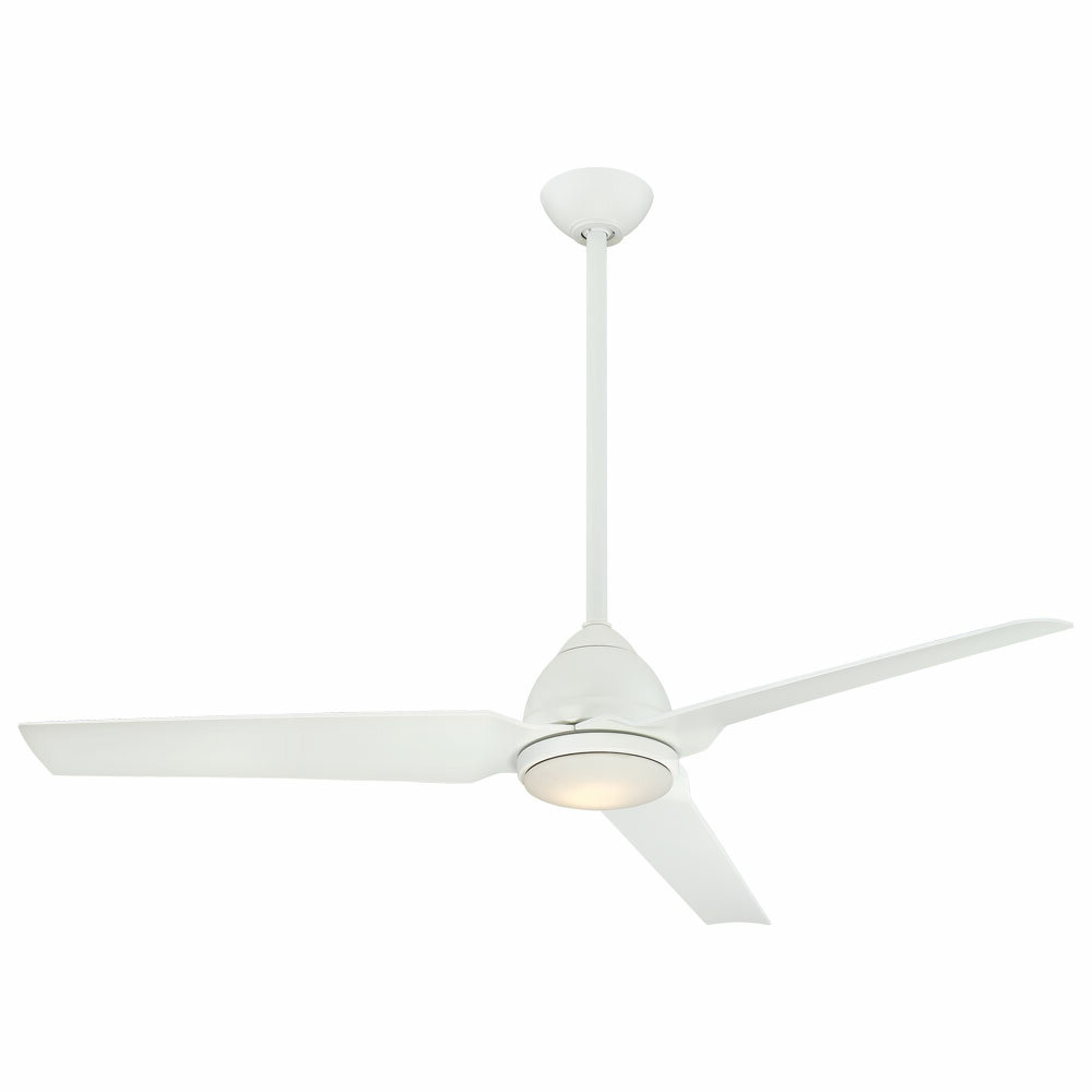 "Java 3 Blade Outdoor Led Ceiling Fans Inside Recent Minka Aire 54"" Java 3 Blade Outdoor Led Ceiling Fan With Remote, Light Kit (View 9 of 20)"