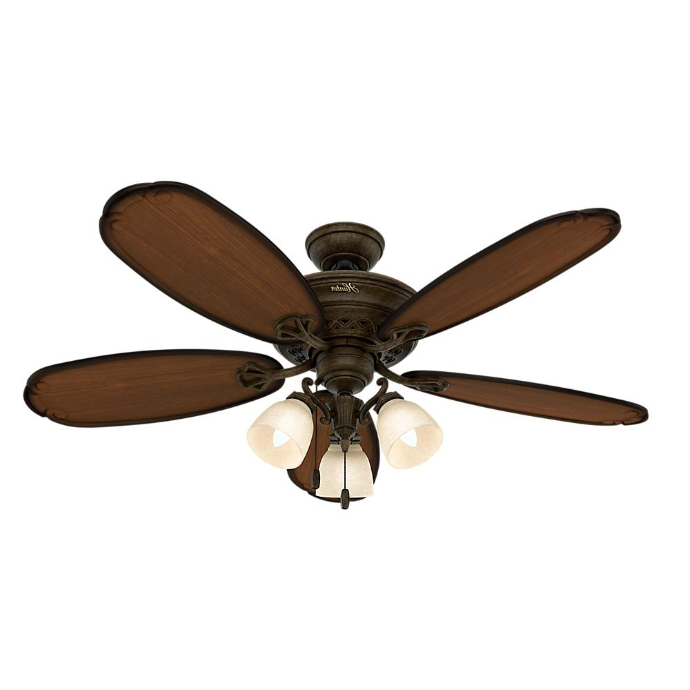 Kalista 5 Blade Ceiling Fans Within Most Recent Hunter Crown Park 54 In (View 16 of 20)
