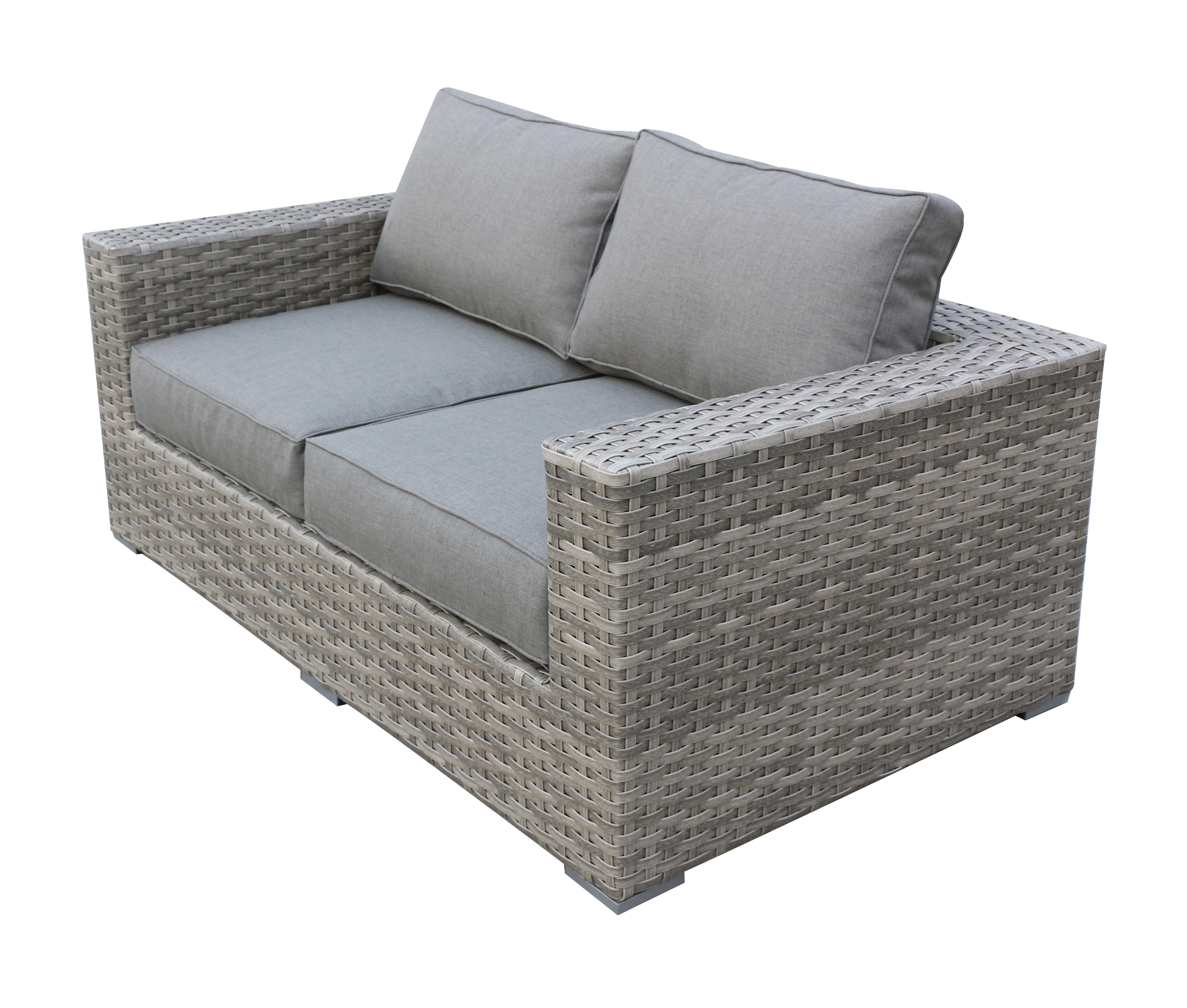Karan Wicker Patio Loveseats With Regard To Well Known Kaiser Love Seat With Cushion (View 9 of 20)