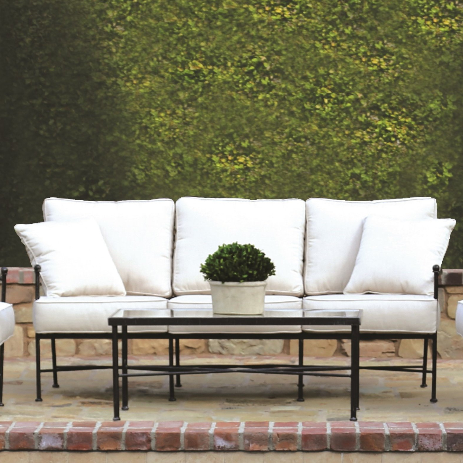 Keever Patio Sofas With Sunbrella Cushions With Regard To Well Liked Provence Patio Sofa With Sunbrella Cushions (View 12 of 20)