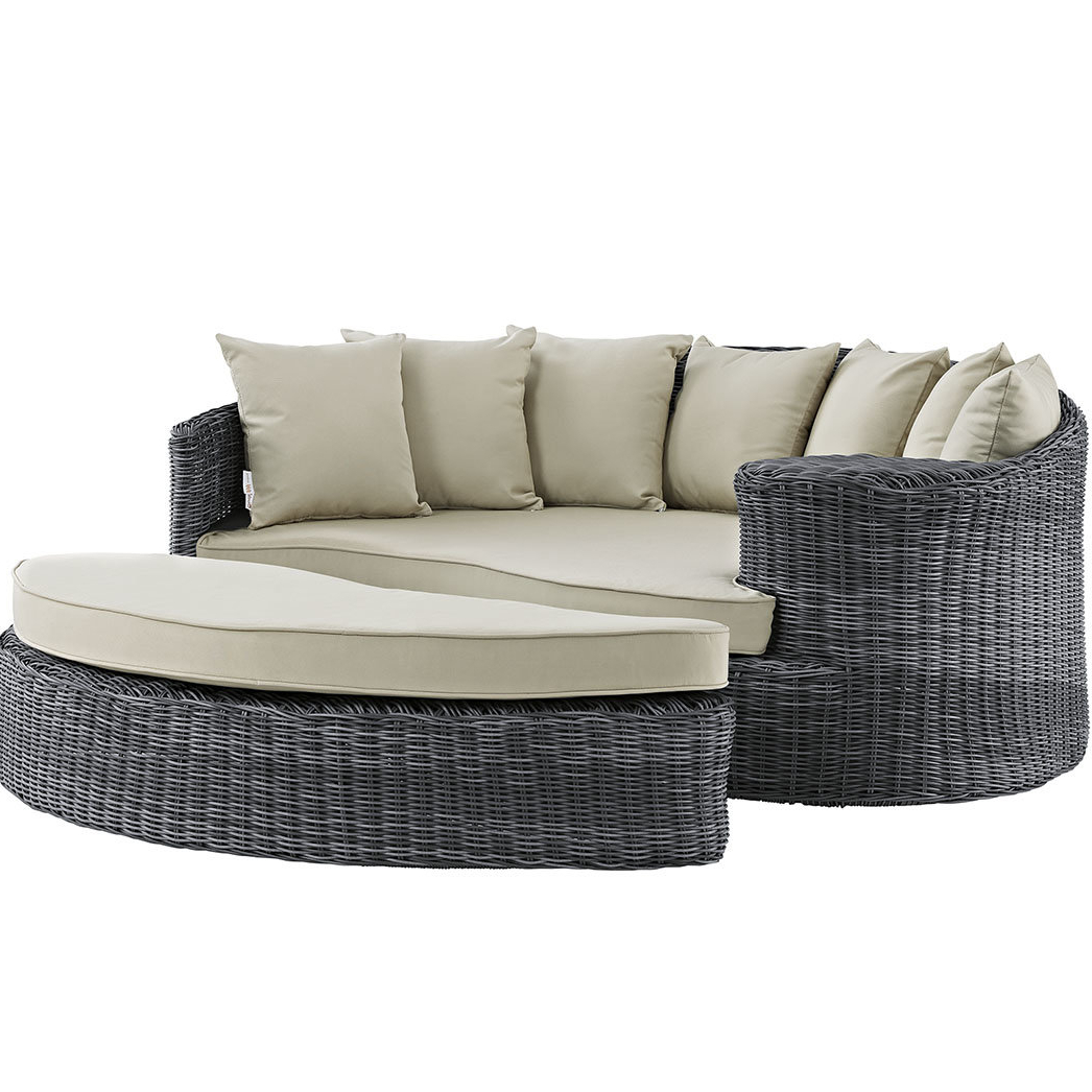 Keiran Daybed With Cushions For Fashionable Keiran Patio Daybeds With Cushions (View 5 of 20)