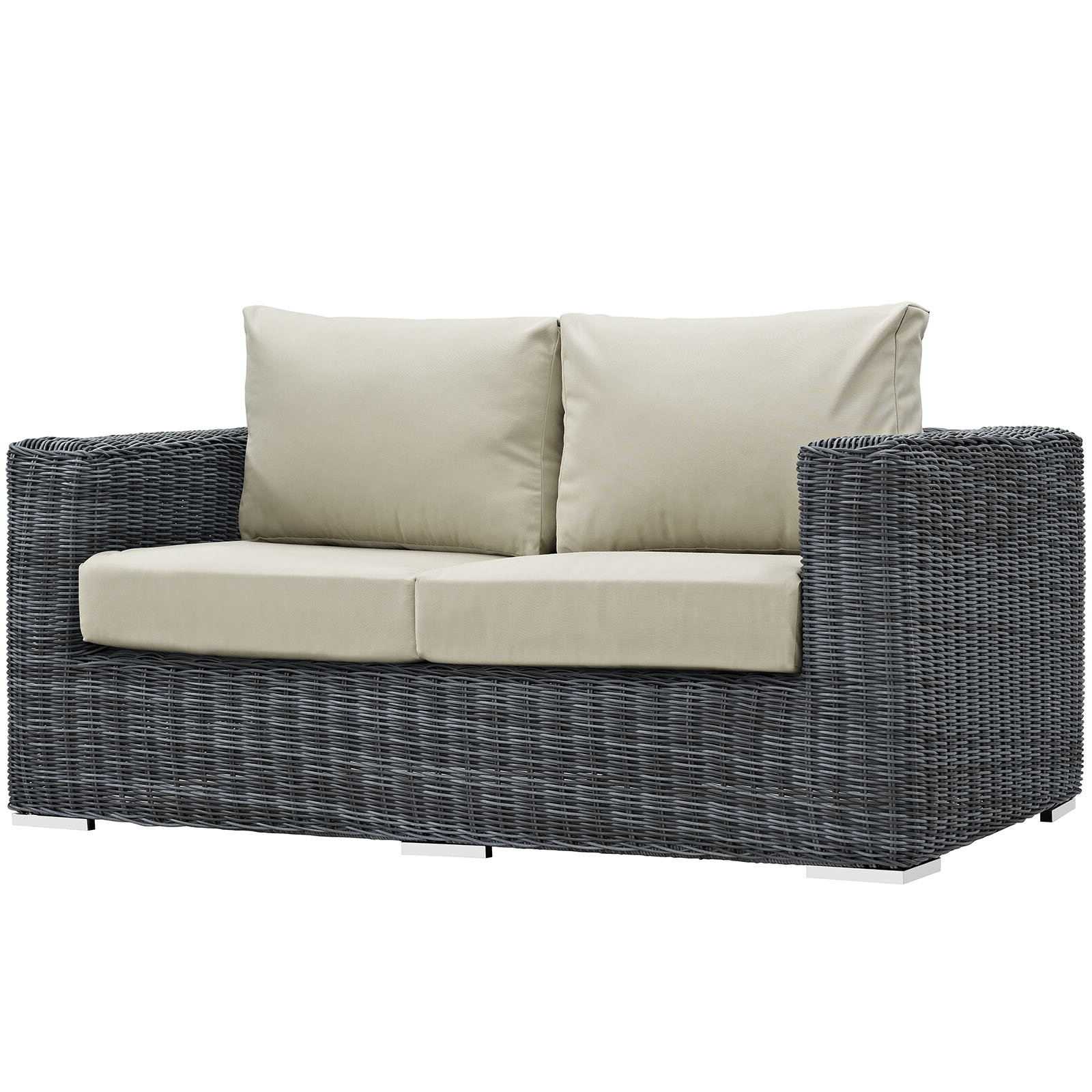 Keiran Loveseat With Cushions Regarding Well Liked Keiran Patio Daybeds With Cushions (View 6 of 20)