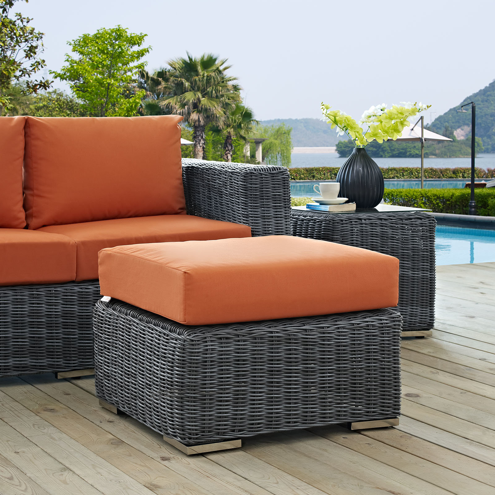 Keiran Ottoman With Cushion In Most Recently Released Keiran Patio Sofas With Cushions (View 19 of 20)