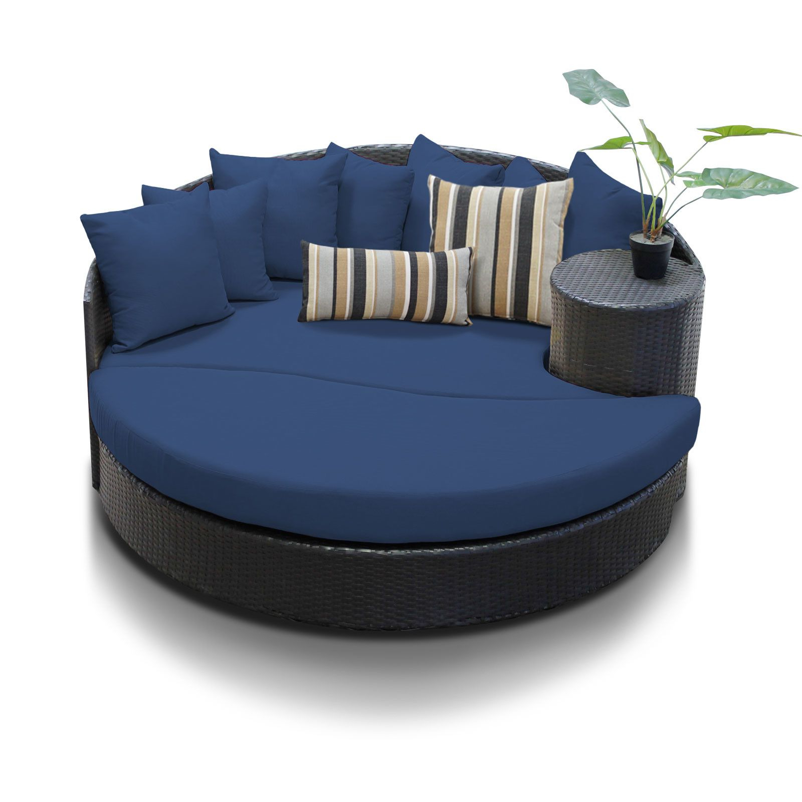 Keiran Patio Daybeds With Cushions Within Recent Newport Circular Sun Daybed With Cushions (View 10 of 20)