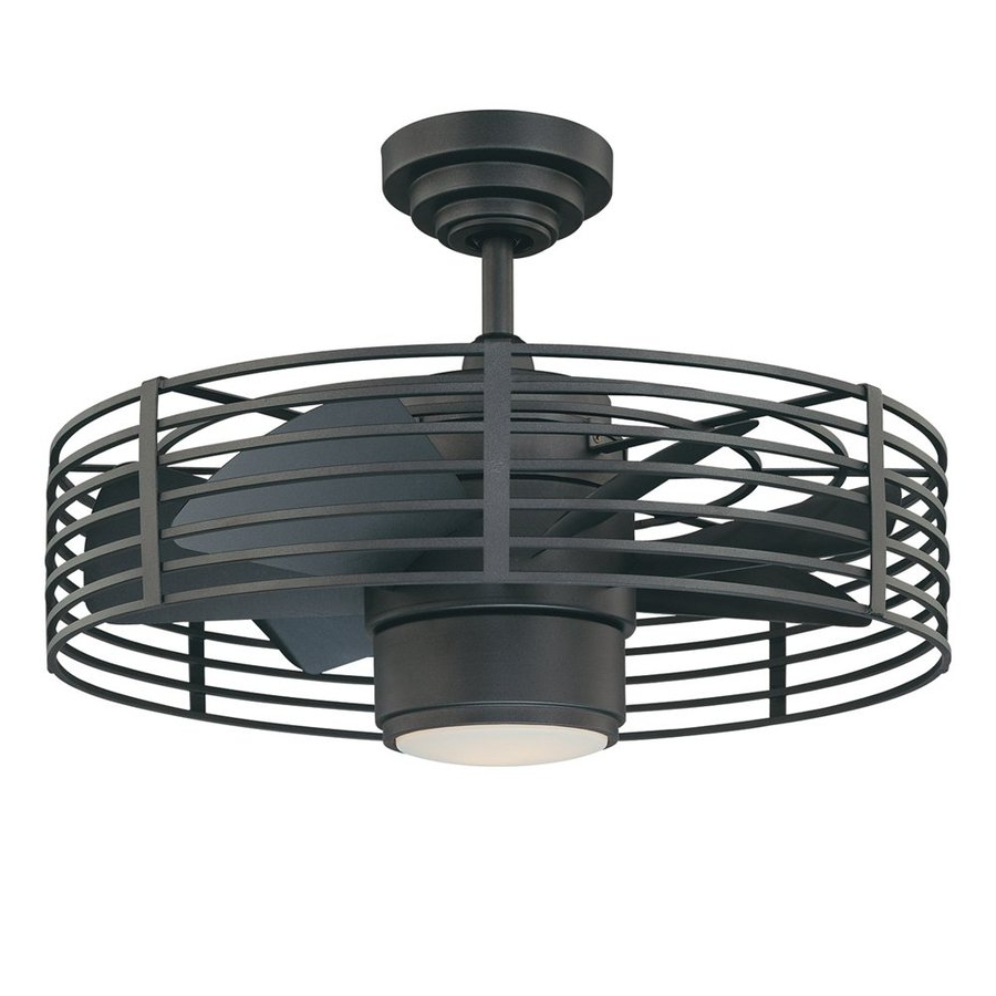Kendal Lighting Enclave 23 In Natural Iron 7 Blade Indoor Ceiling Fan With Light Kit And Remote In Well Known Glasgow 7 Blade Ceiling Fans (View 4 of 20)