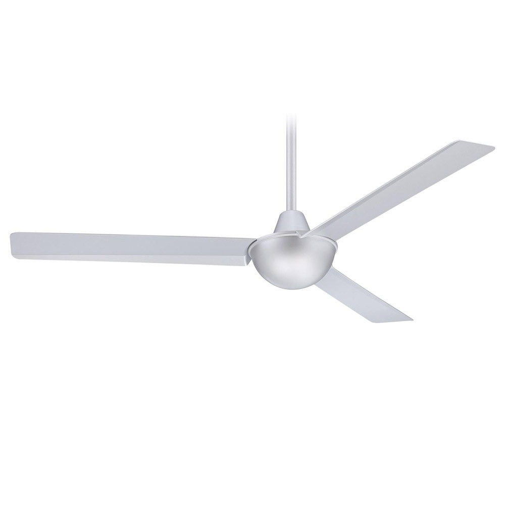 Kewl 3 Blade Ceiling Fans In Famous 52 Inch Minka Aire Kewl Ceiling Fan – F833 Sl – Silver (View 3 of 20)