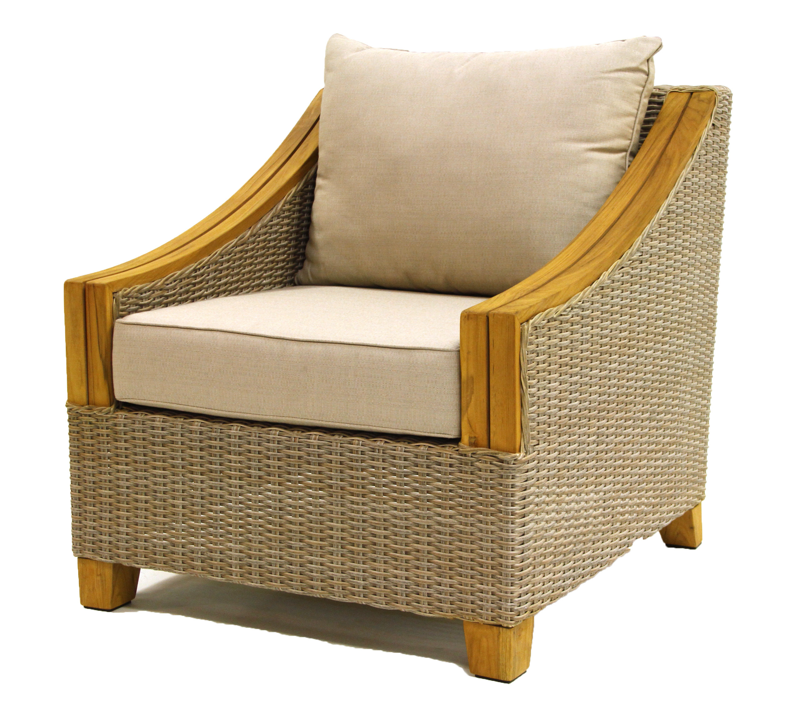 Kincaid Teak Patio Chair With Cushions Pertaining To Fashionable Montford Teak Patio Sofas With Cushions (View 7 of 20)