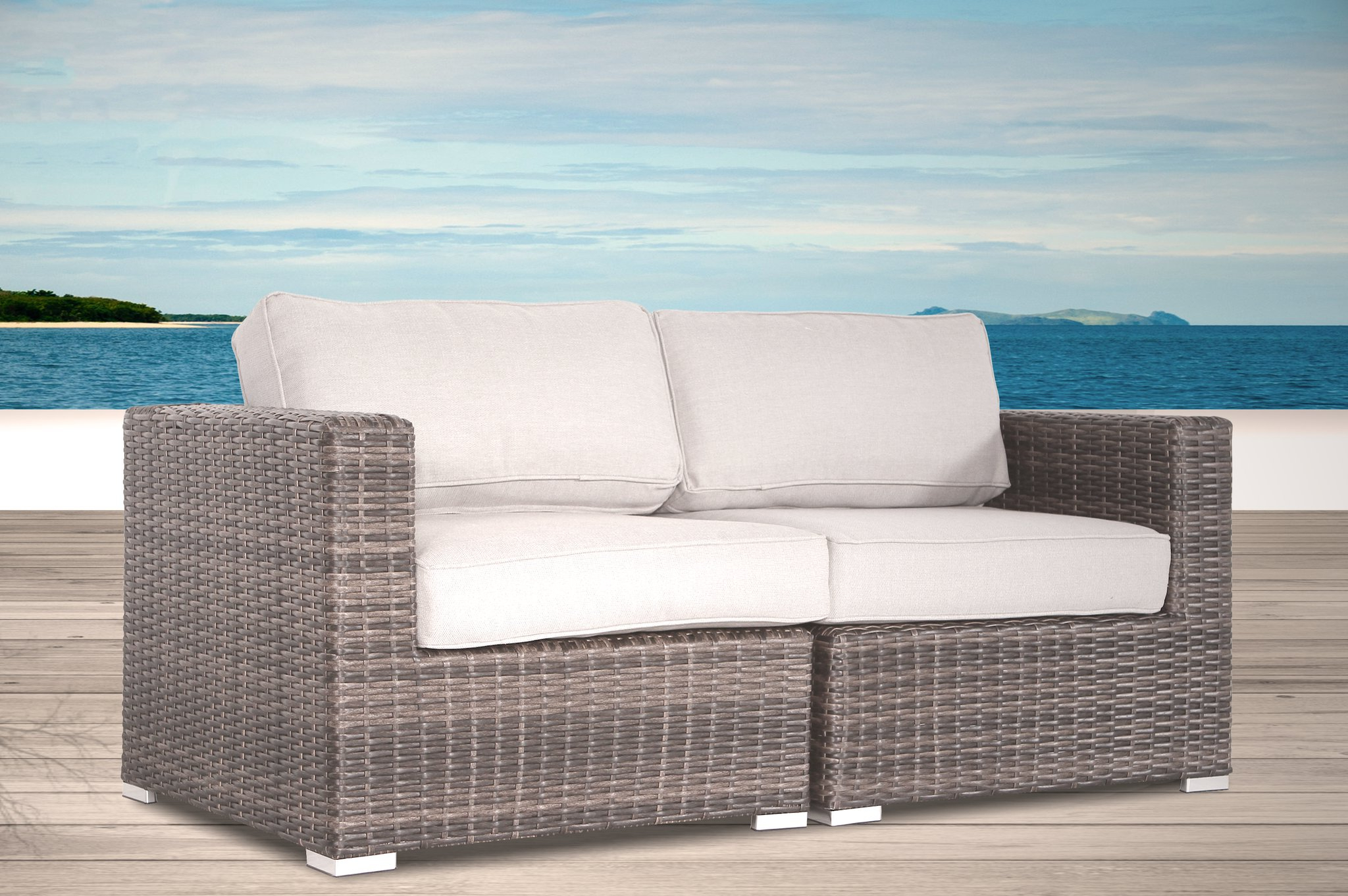 Kunz Loveseats With Cushions Intended For Trendy Bamboo Loveseat You'll Love In  (View 8 of 20)