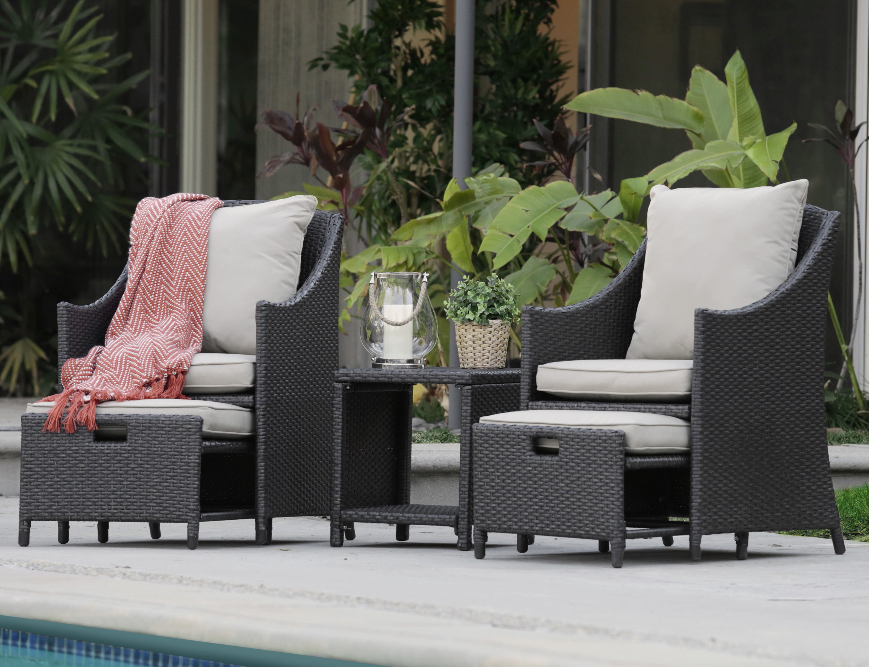 Laguna Outdoor Sofas With Cushions In Famous Laguna 5 Piece Conversation Set With Cushions (View 4 of 20)