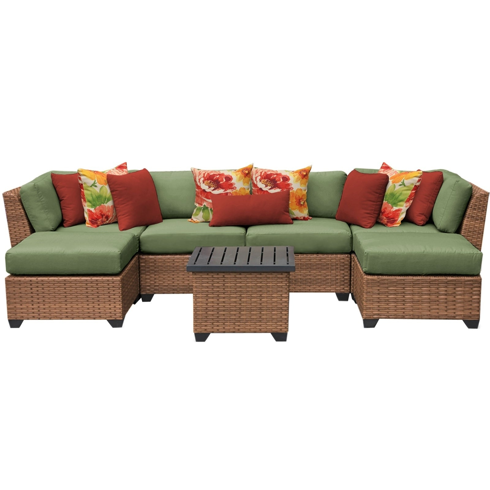 Laguna Outdoor Sofas With Cushions With Popular Laguna 7 Piece Outdoor Wicker Patio Furniture Set 07A (View 8 of 20)