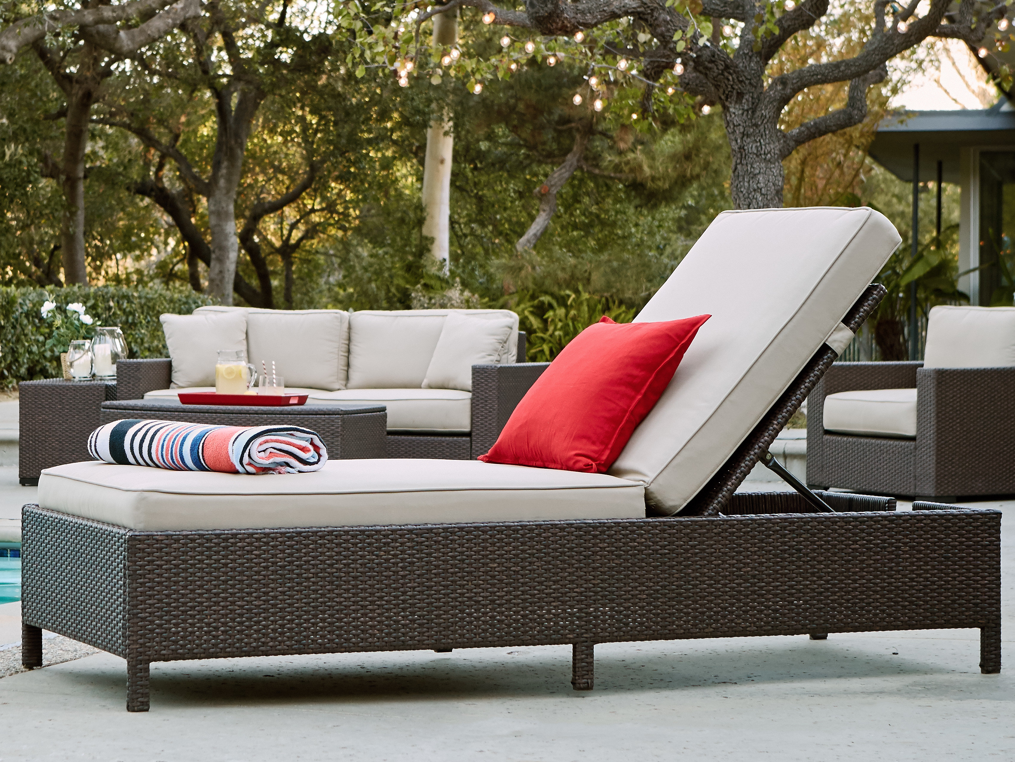 Laguna Outdoor Storage Chaise Lounge Inside Most Up To Date Laguna Outdoor Sofas With Cushions (View 11 of 20)