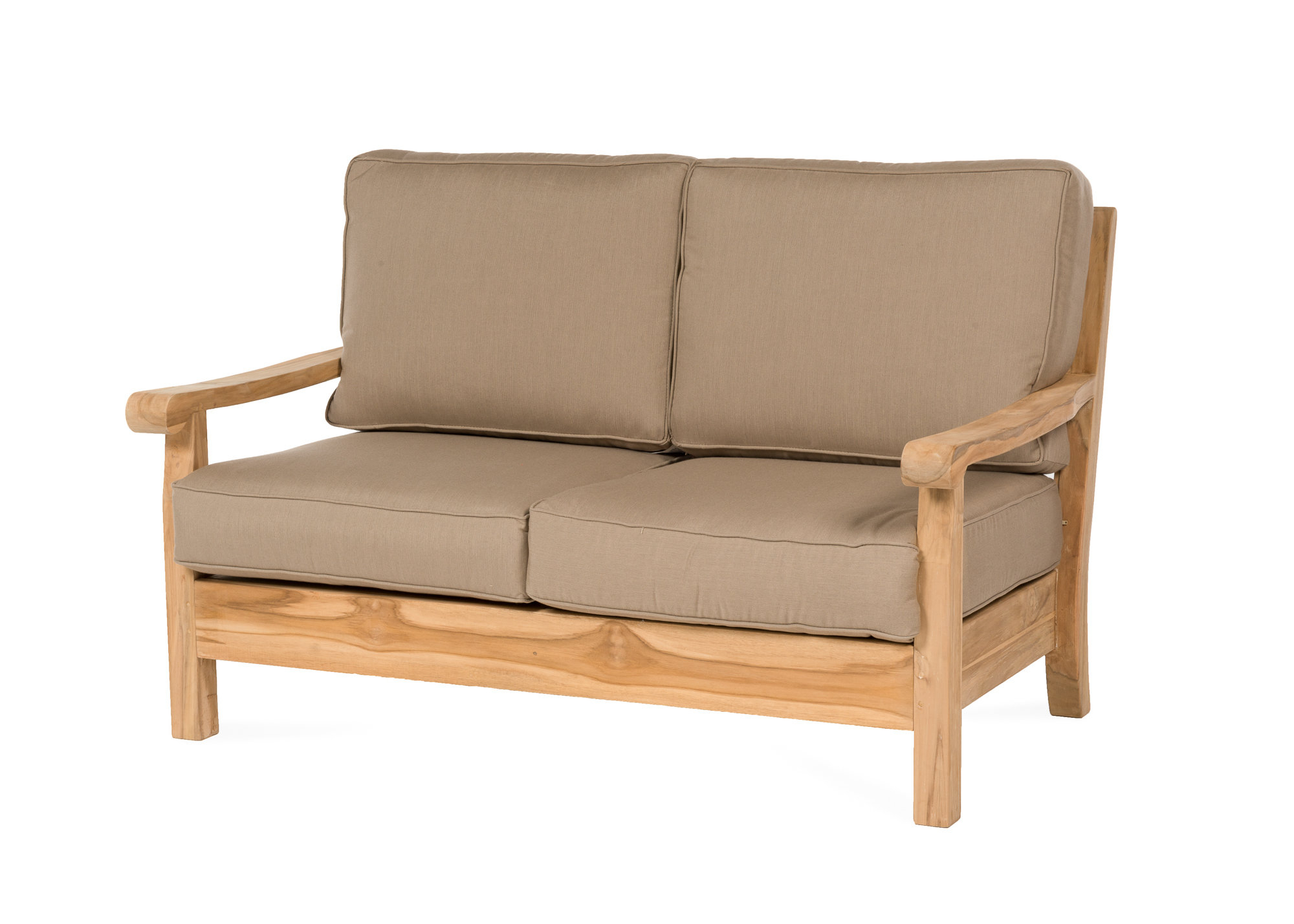 Lakeland Teak Loveseats With Cushions For Recent Chasity Teak Loveseat With Cushion (View 6 of 20)