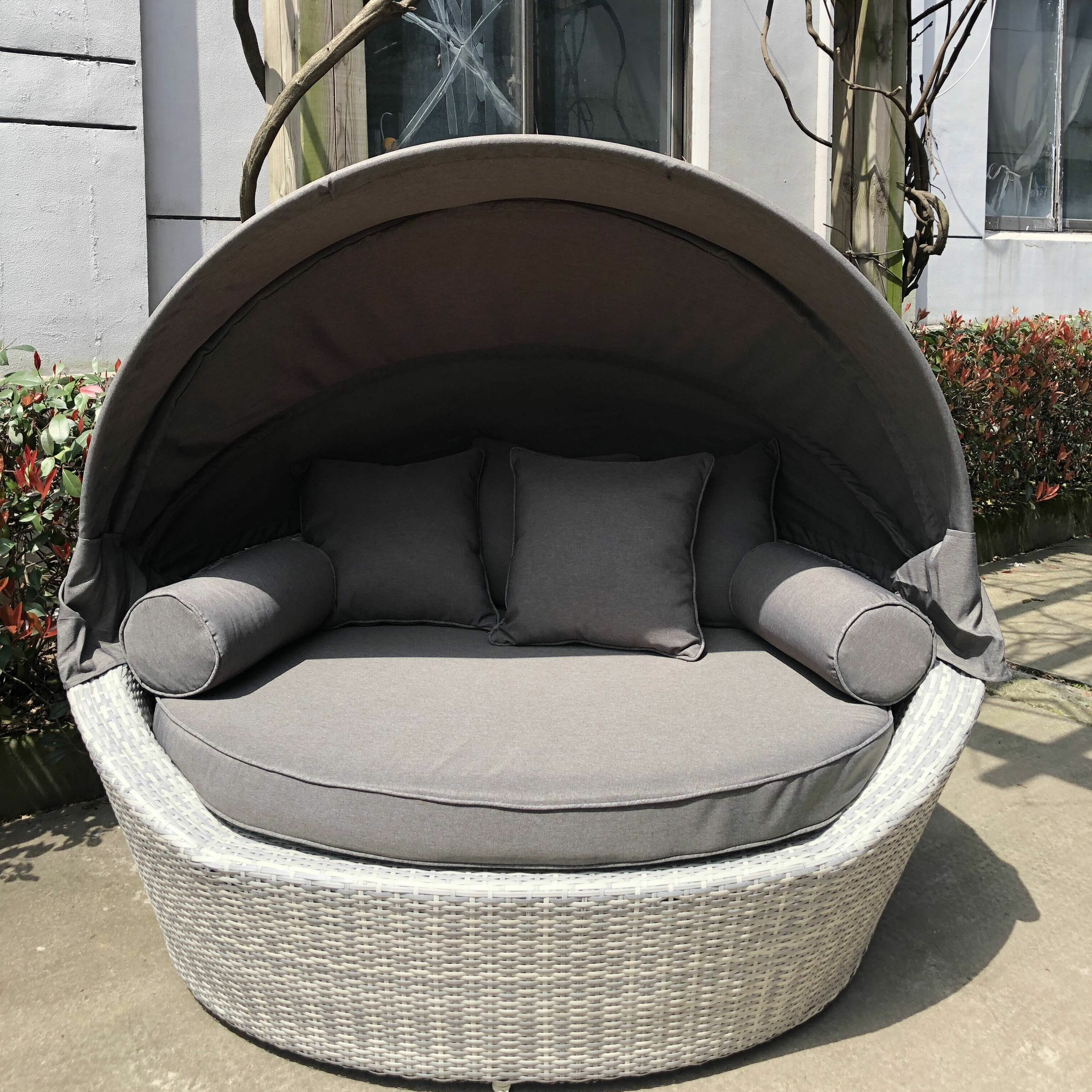 Lammers Outdoor Wicker Daybeds With Cushions For Latest Carrasco Patio Daybed With Cushions (View 6 of 20)