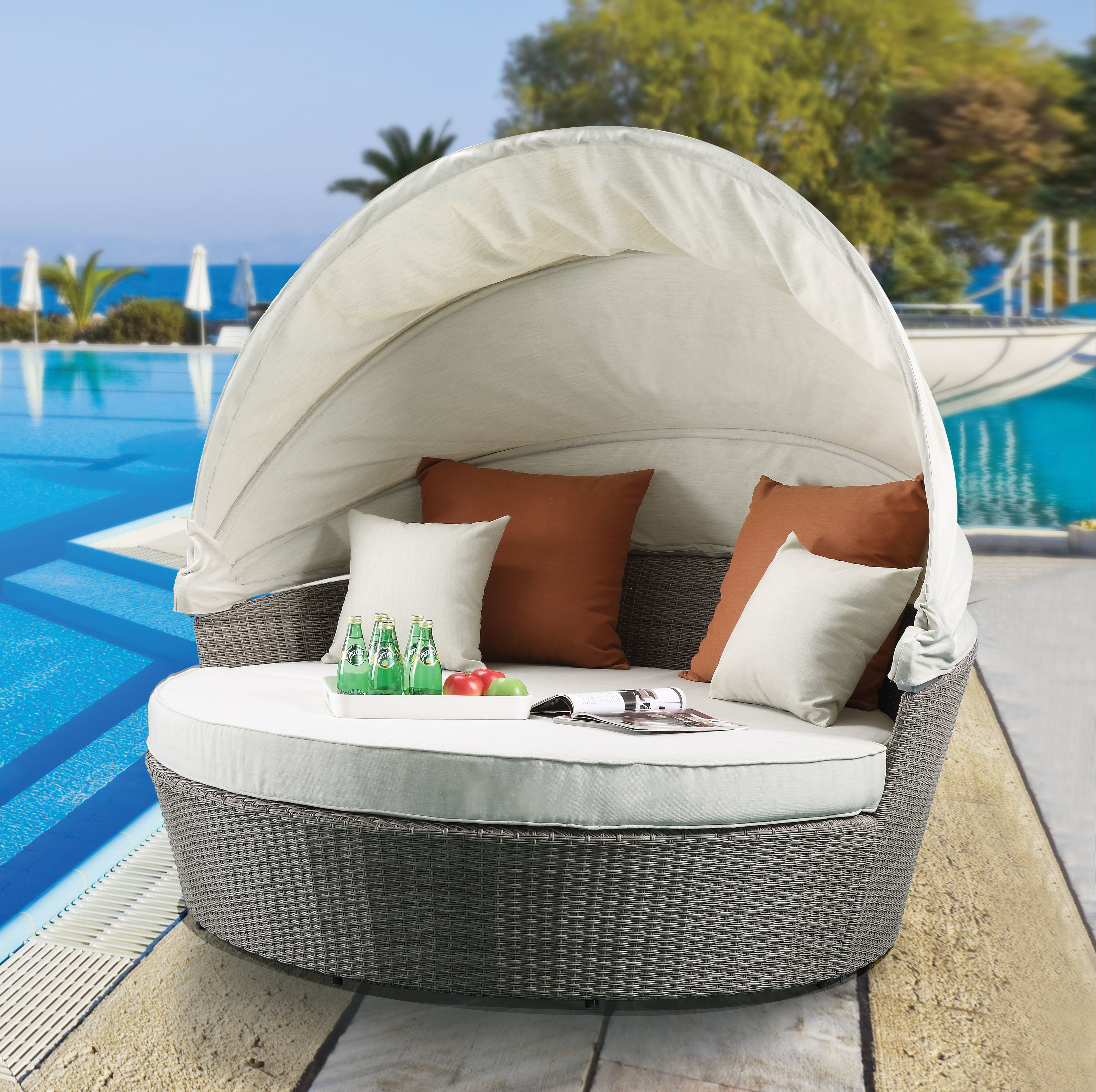 Lammers Outdoor Wicker Daybeds With Cushions Intended For Best And Newest Winebarger Patio Daybed With Cushions (View 8 of 20)