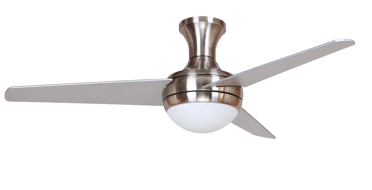 "Latest 48"" Nikki 3 Blade Ceiling Fan With Remote, Light Kit For Nikki 3 Blade Ceiling Fans (View 2 of 20)"