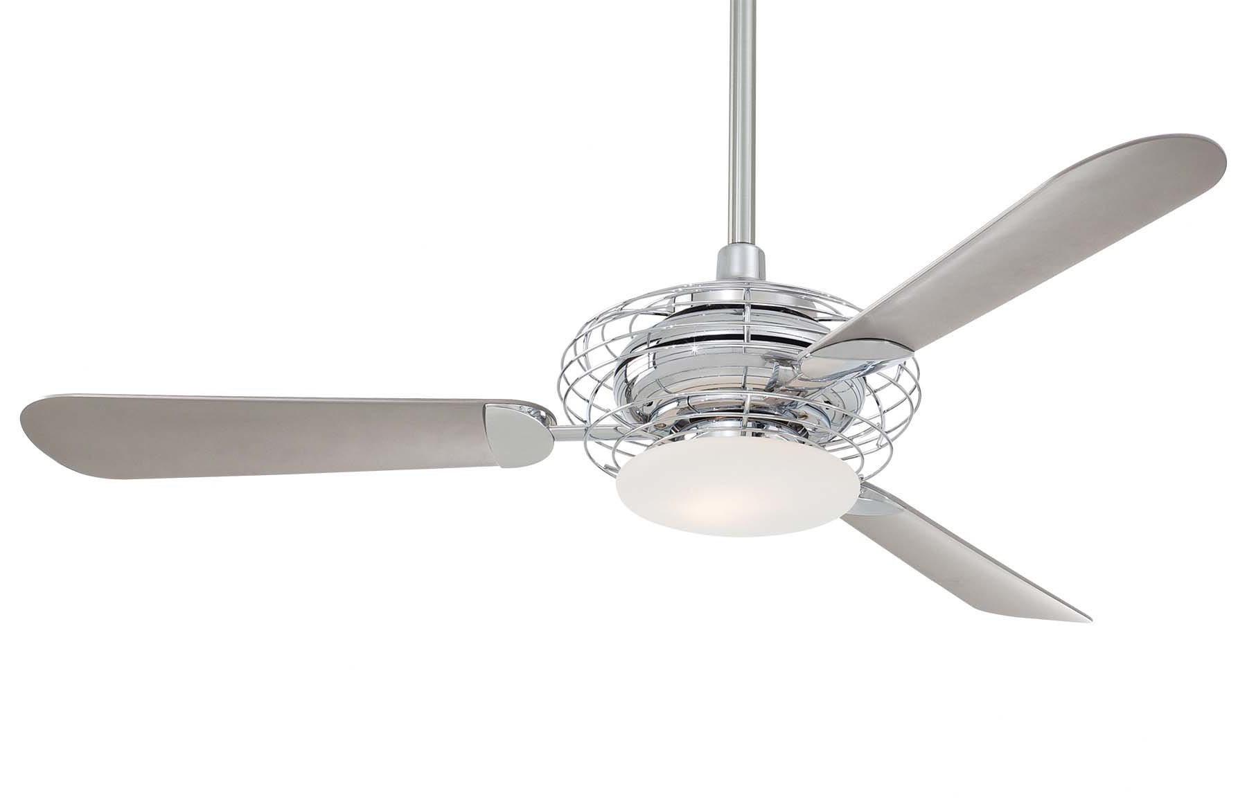 "Latest 52"" Acero Retro 3 Blade Led Ceiling Fan Within Acero Retro 3 Blade Led Ceiling Fans (View 4 of 20)"