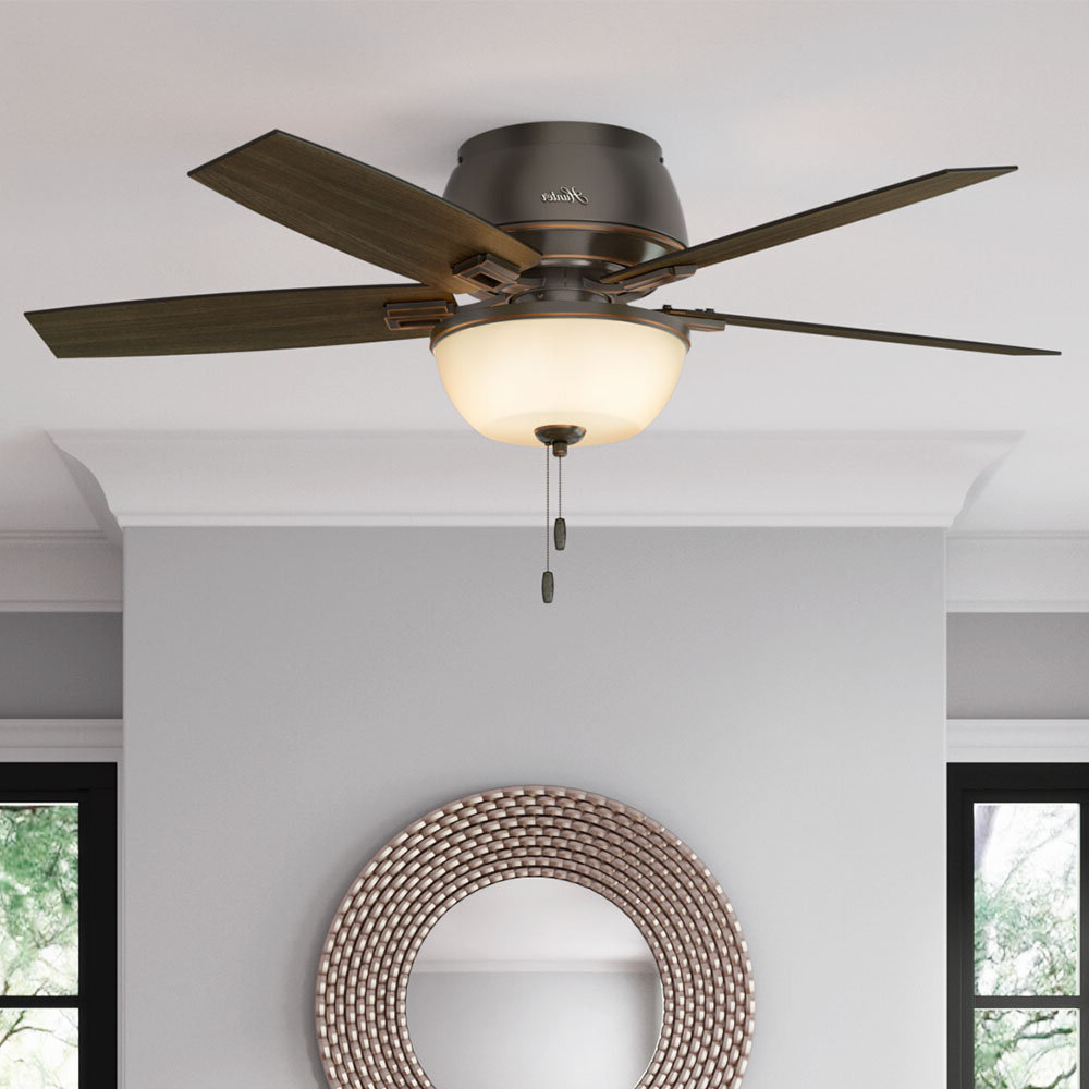 """Latest 52"""" Donegan 5 Blade Ceiling Fan, Light Kit Included Intended For Eliora 5 Blade Ceiling Fans (Gallery 7 of 20)"""