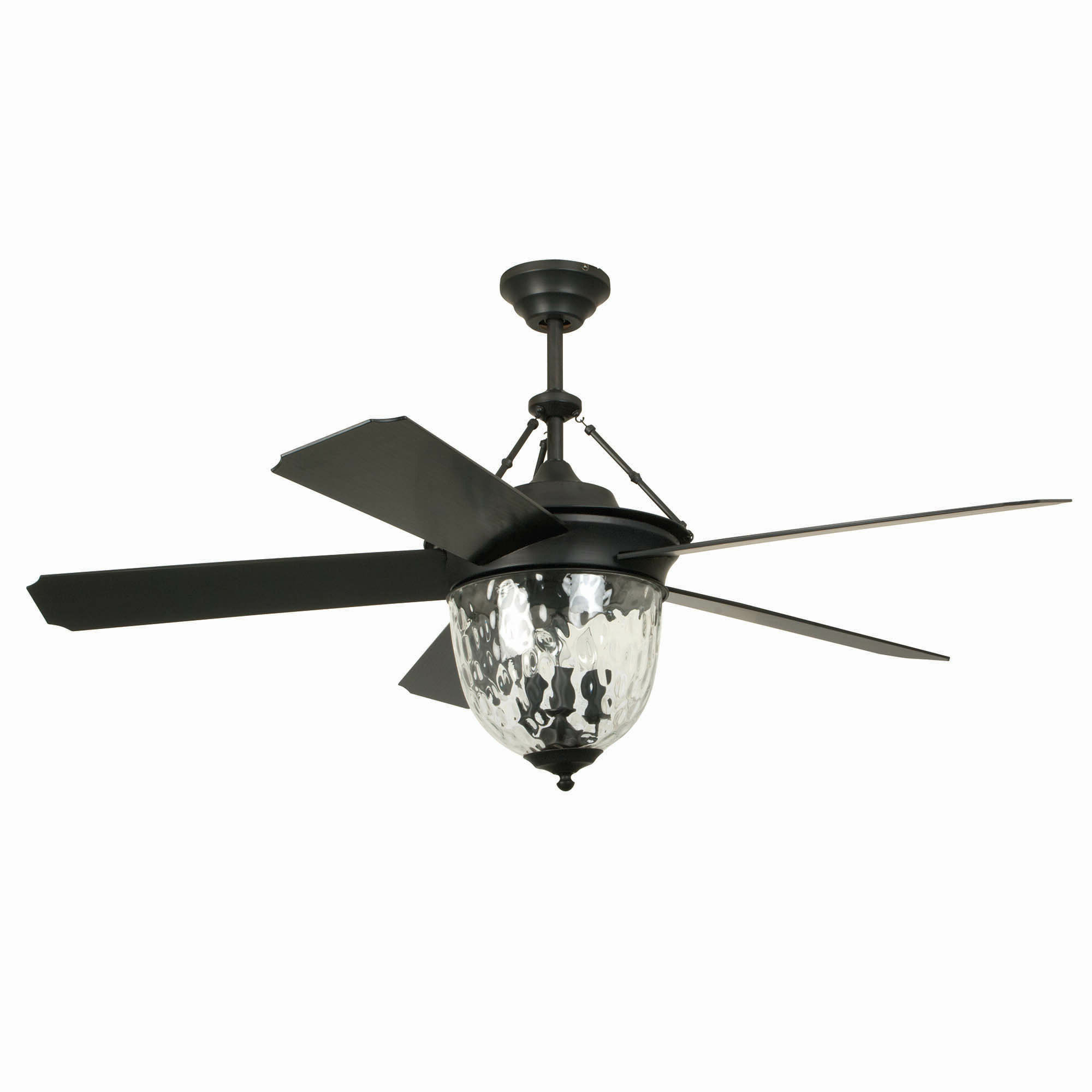 "Latest 52"" Harada Hangdown 5 Blade Ceiling Fan With Remote, Light Kit Included Within Bennett 5 Blade Ceiling Fans With Remote (View 9 of 20)"