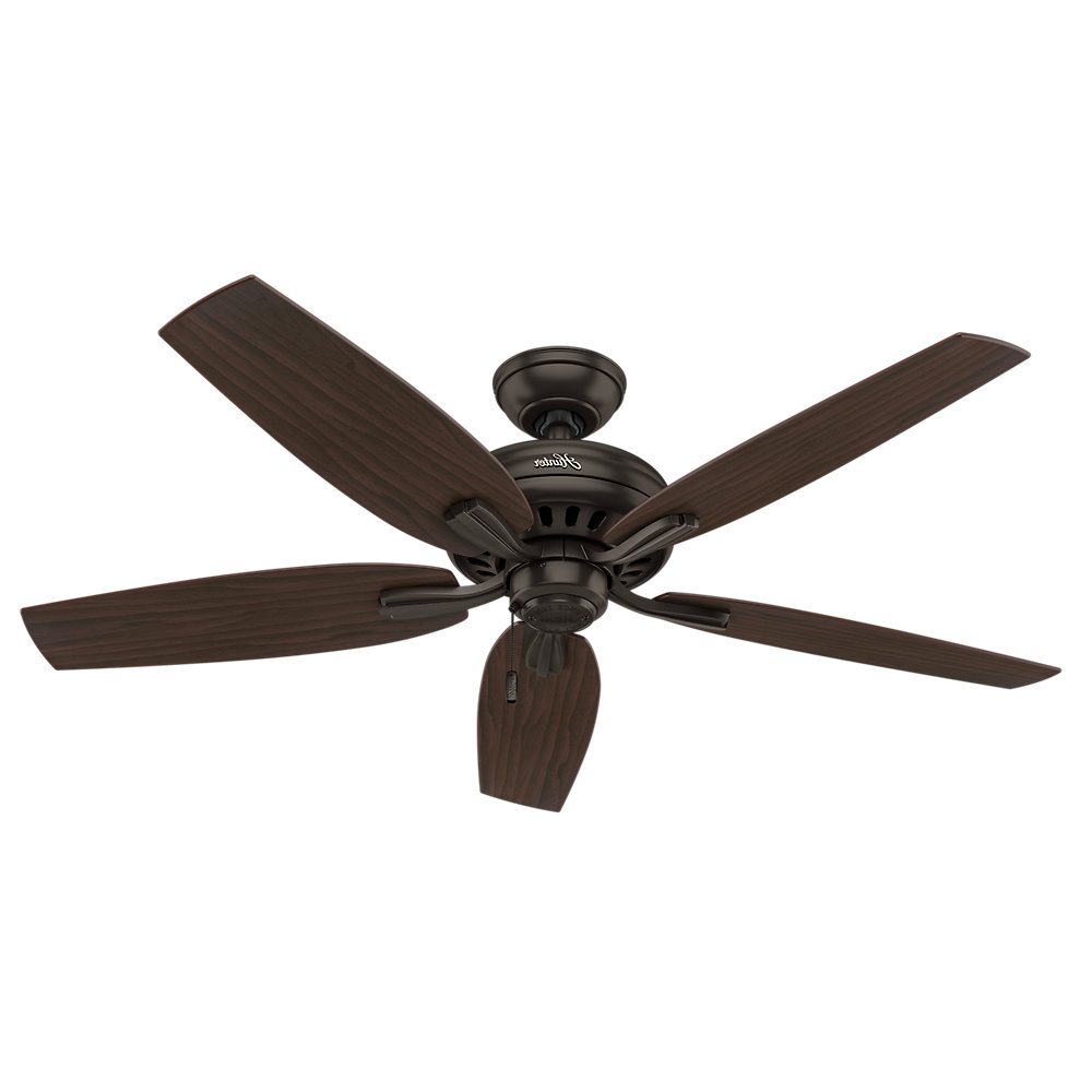 "Latest 52"" Newsome 5 Blade Ceiling Fan Inside Newsome Low Profile 5 Blade Ceiling Fans (View 6 of 20)"