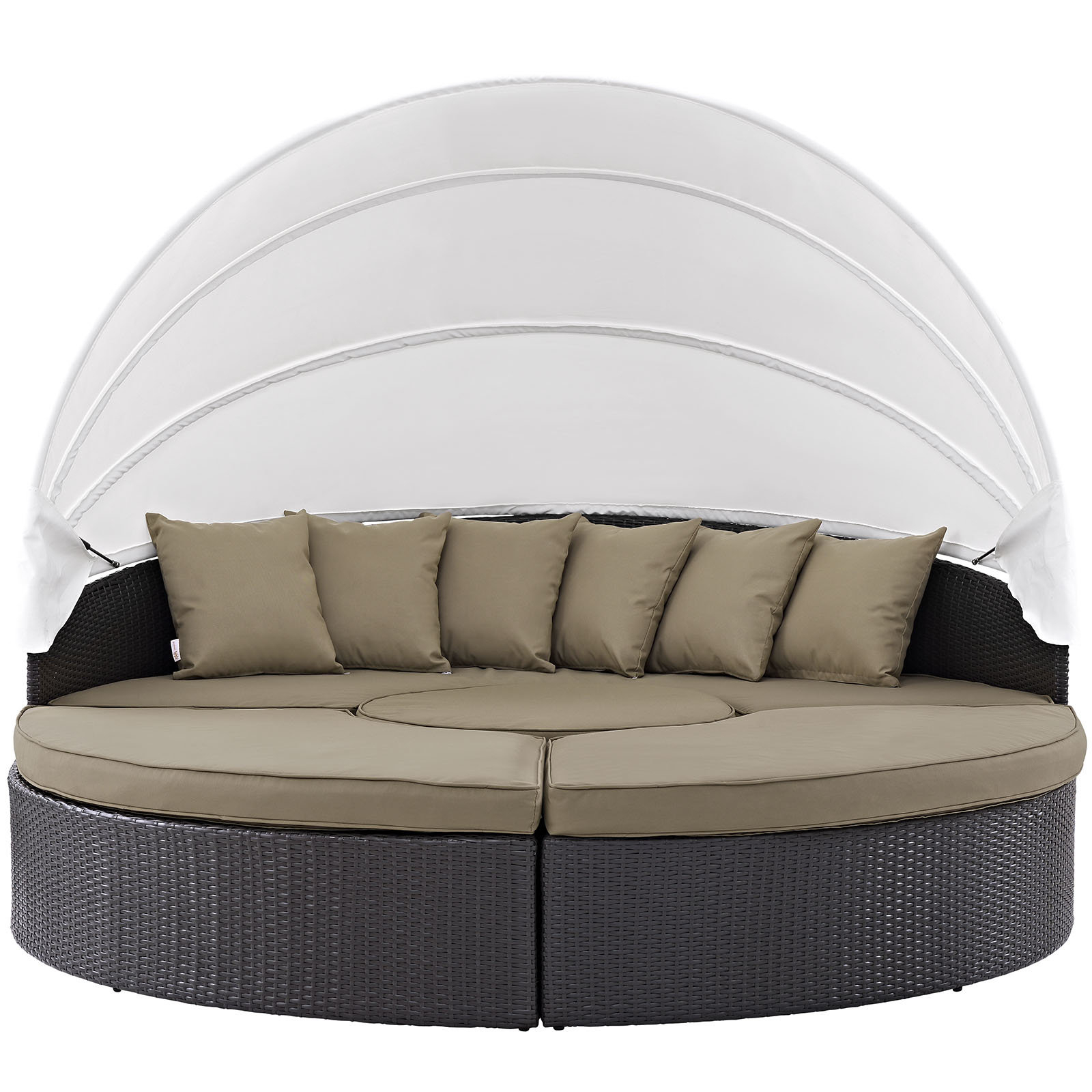 Latest Brentwood Patio Daybed With Cushions For Greening Outdoor Daybeds With Ottoman & Cushions (View 9 of 20)
