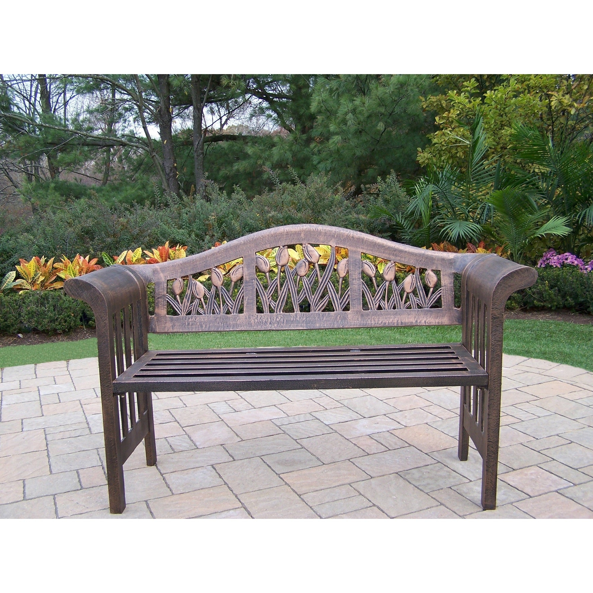 Latest Buy Wrought Iron Outdoor Benches Online At Overstock (View 24 of 25)